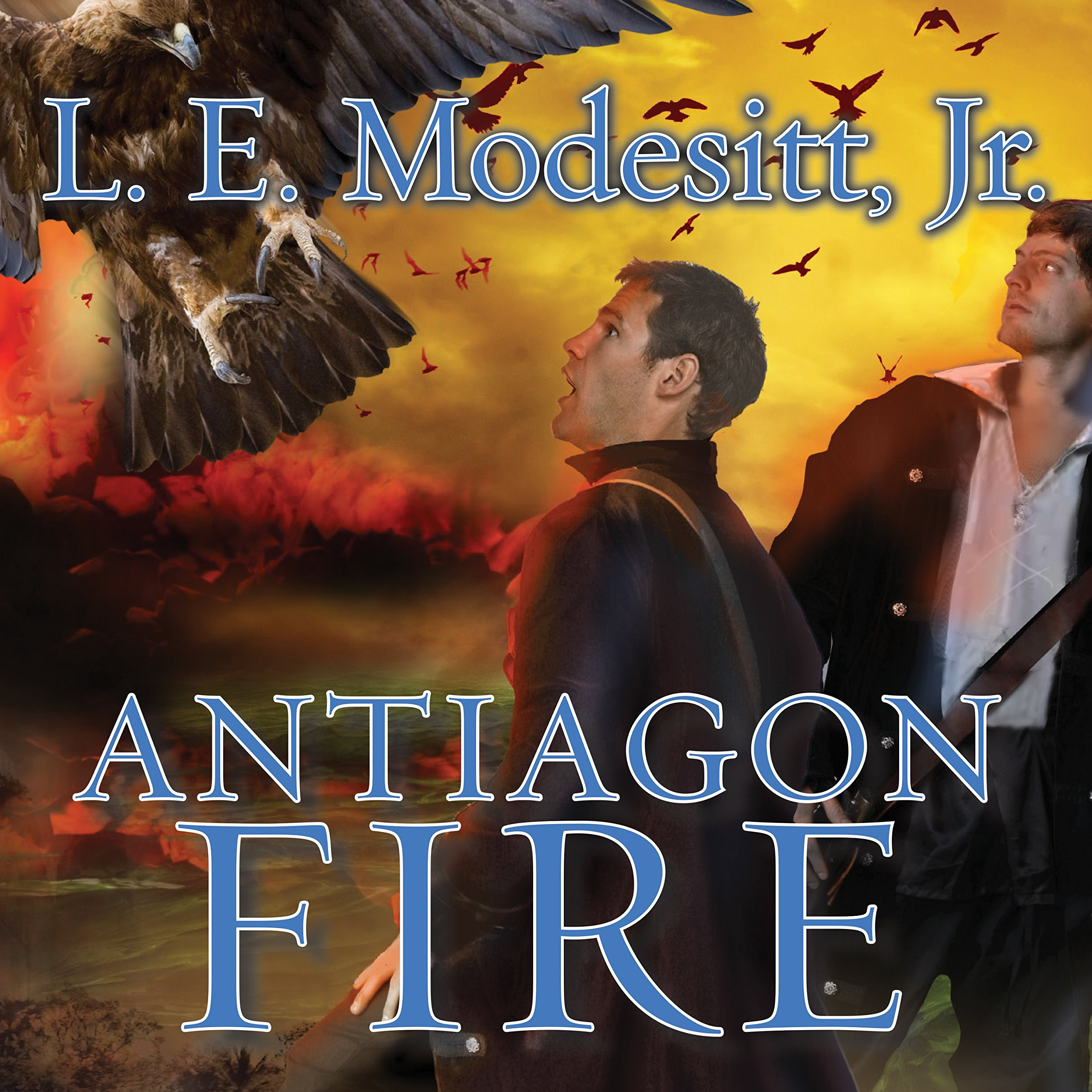 Printable Antiagon Fire: The Seventh Book of the Imager Portfolio Audiobook Cover Art