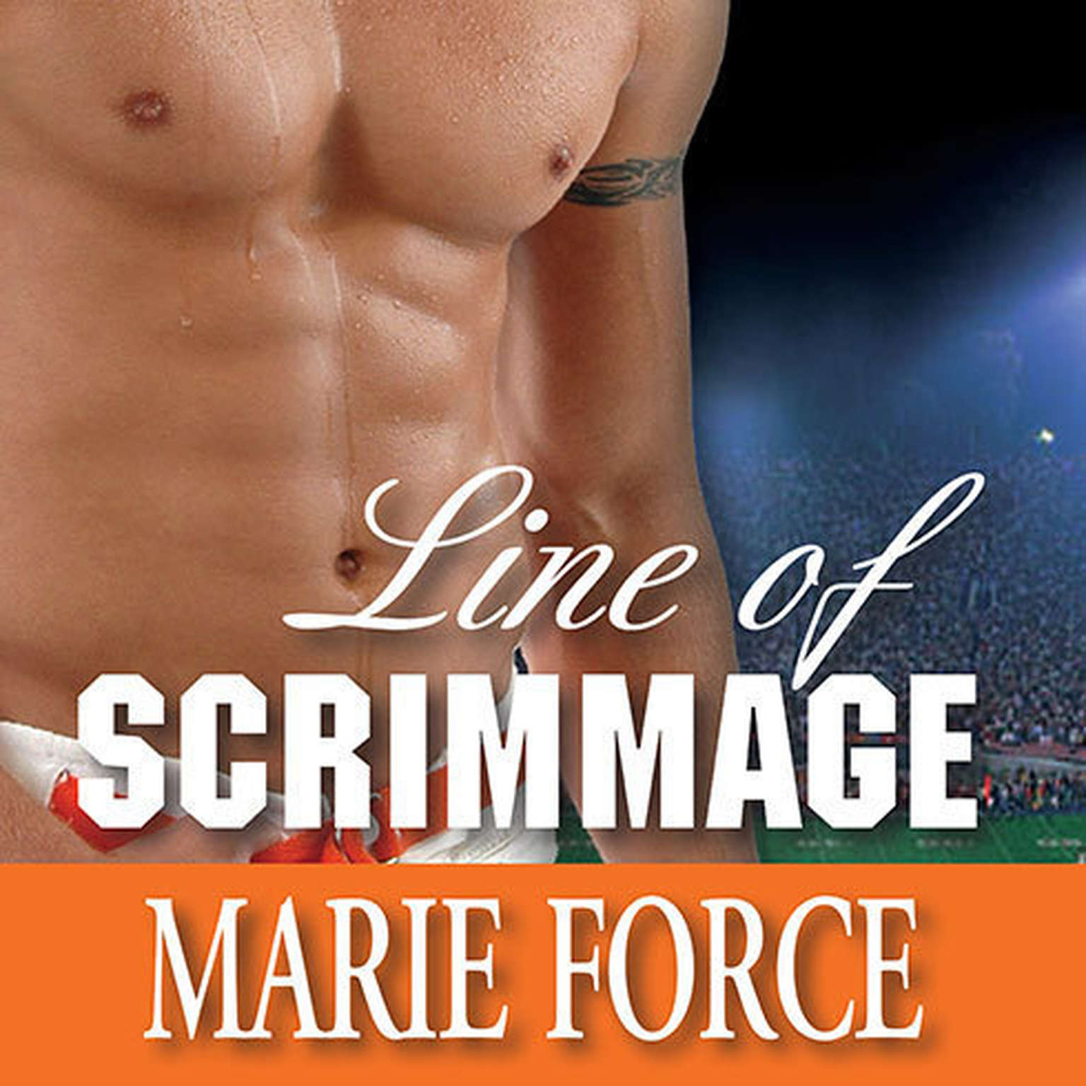 Printable Line of Scrimmage Audiobook Cover Art