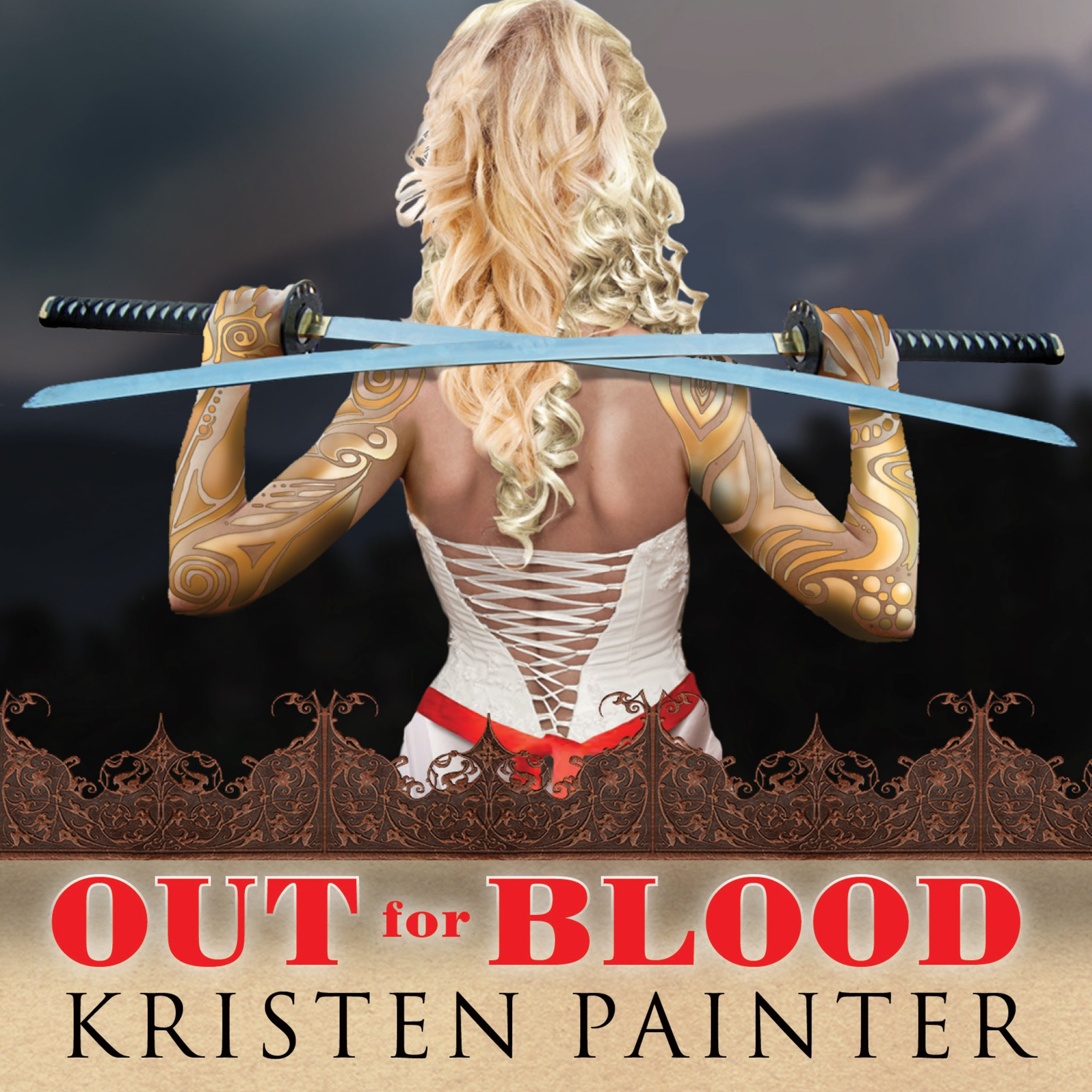Printable Out for Blood Audiobook Cover Art