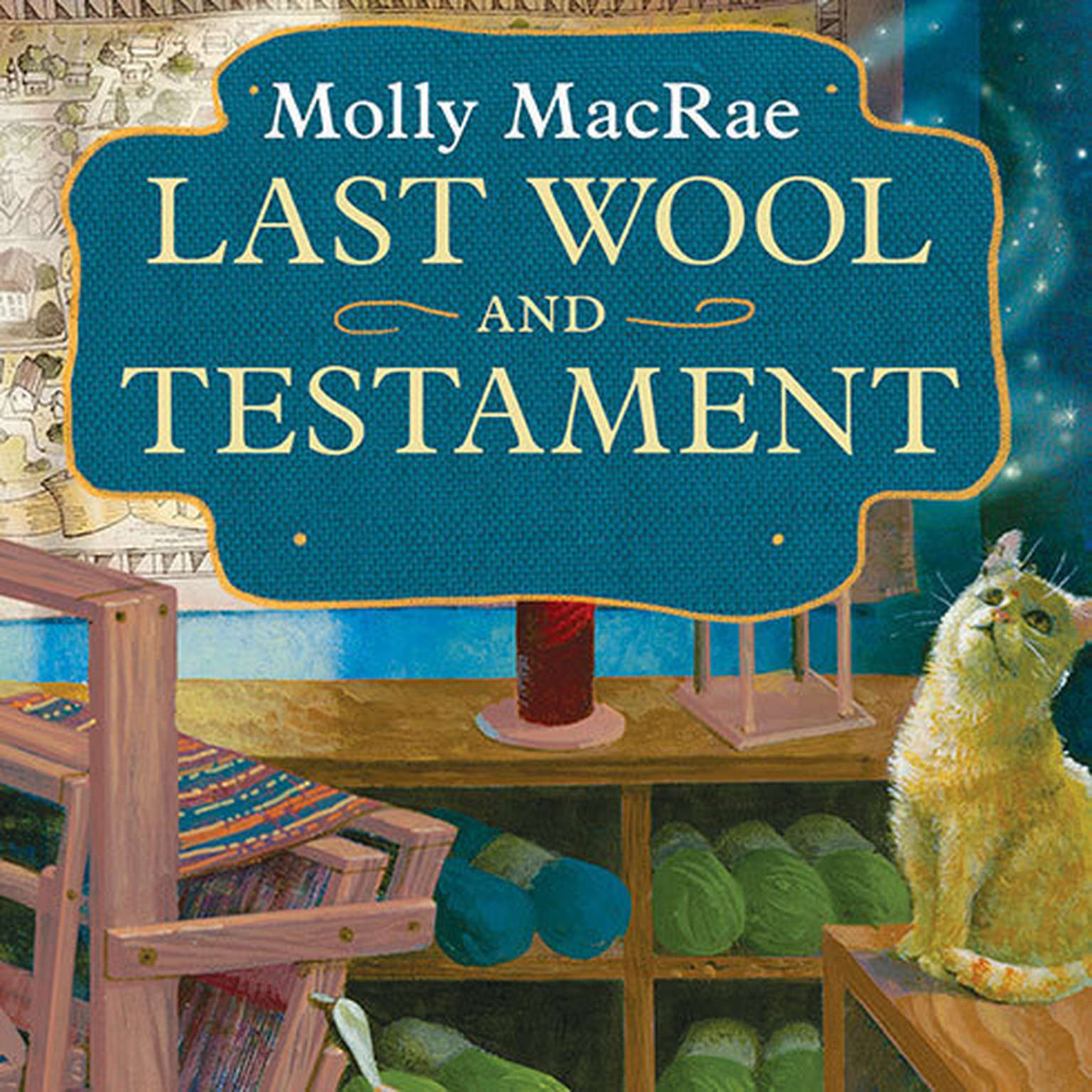 Printable Last Wool and Testament: A Haunted Yarn Shop Mystery Audiobook Cover Art