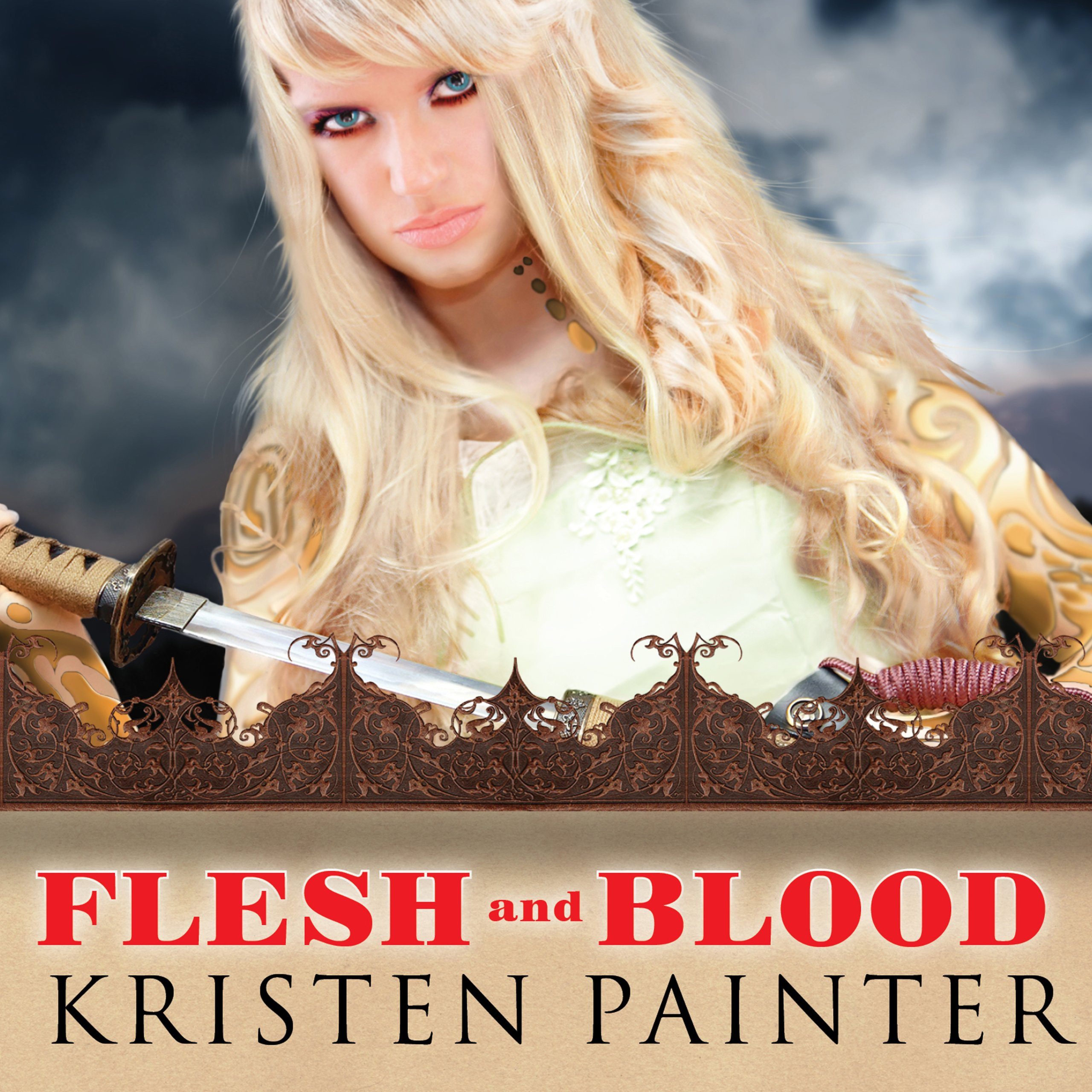 Printable Flesh and Blood Audiobook Cover Art