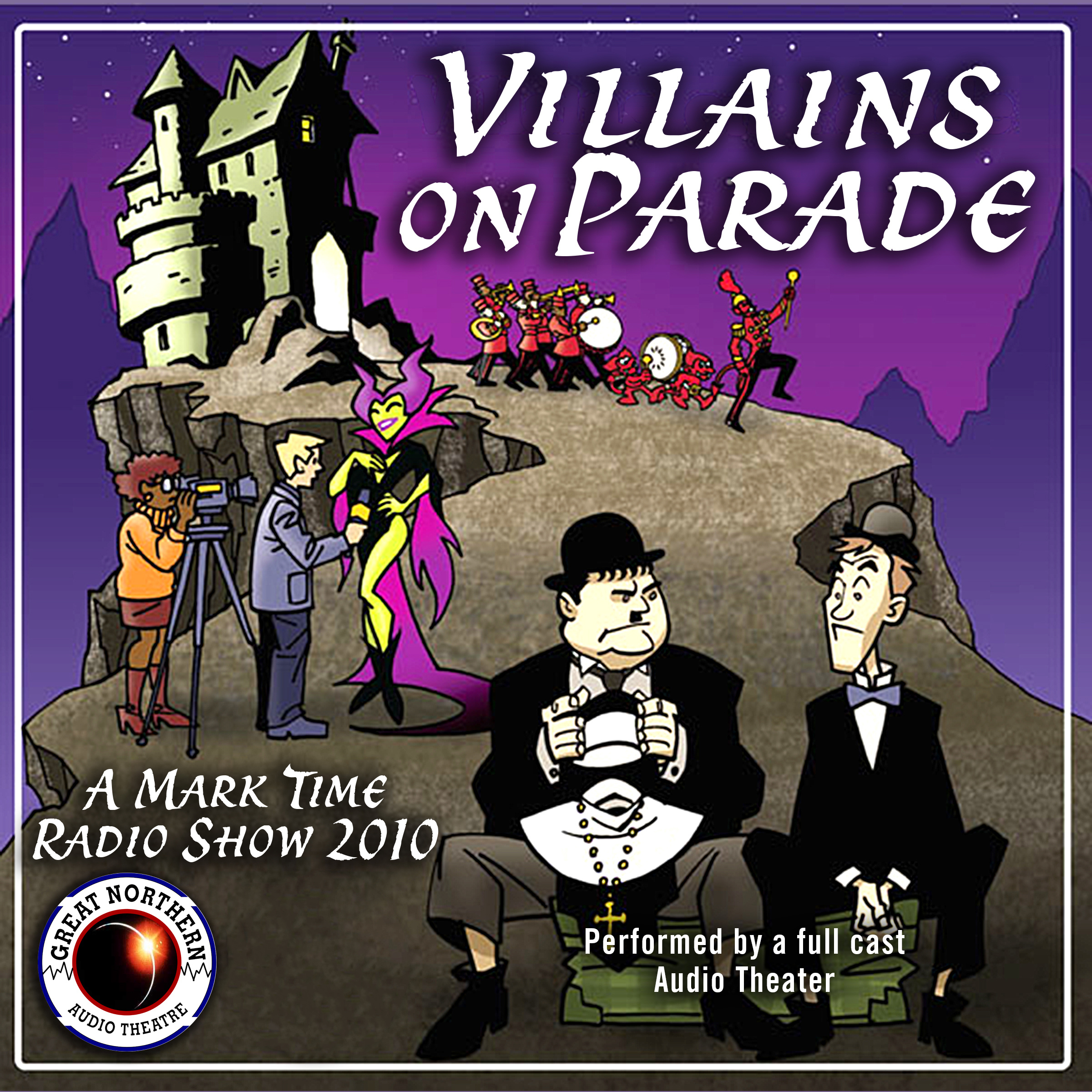 Printable Villains on Parade Audiobook Cover Art