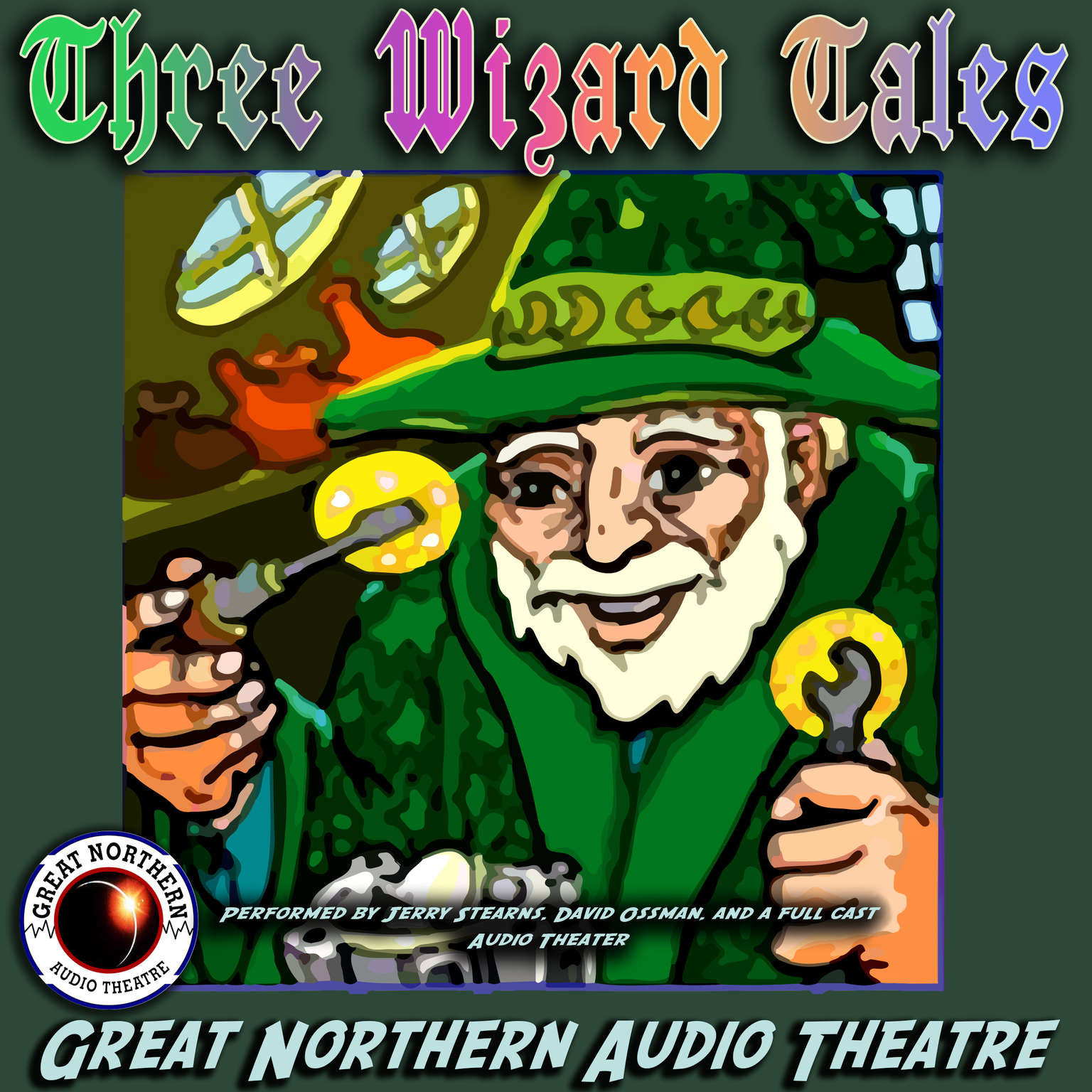 "Printable 3 Wizard Tales: ""High Moon,"" ""Tell Them NAPA Sent You,"" ""Wizard Jack"" Audiobook Cover Art"