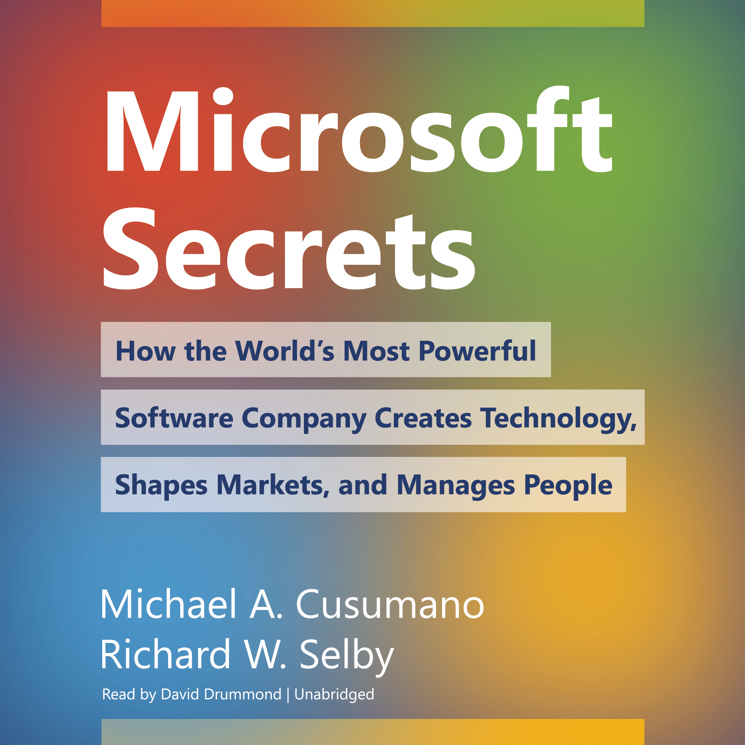 Printable Microsoft Secrets: How the World's Most Powerful Software Company Creates Technology, Shapes Markets, and Manages People Audiobook Cover Art