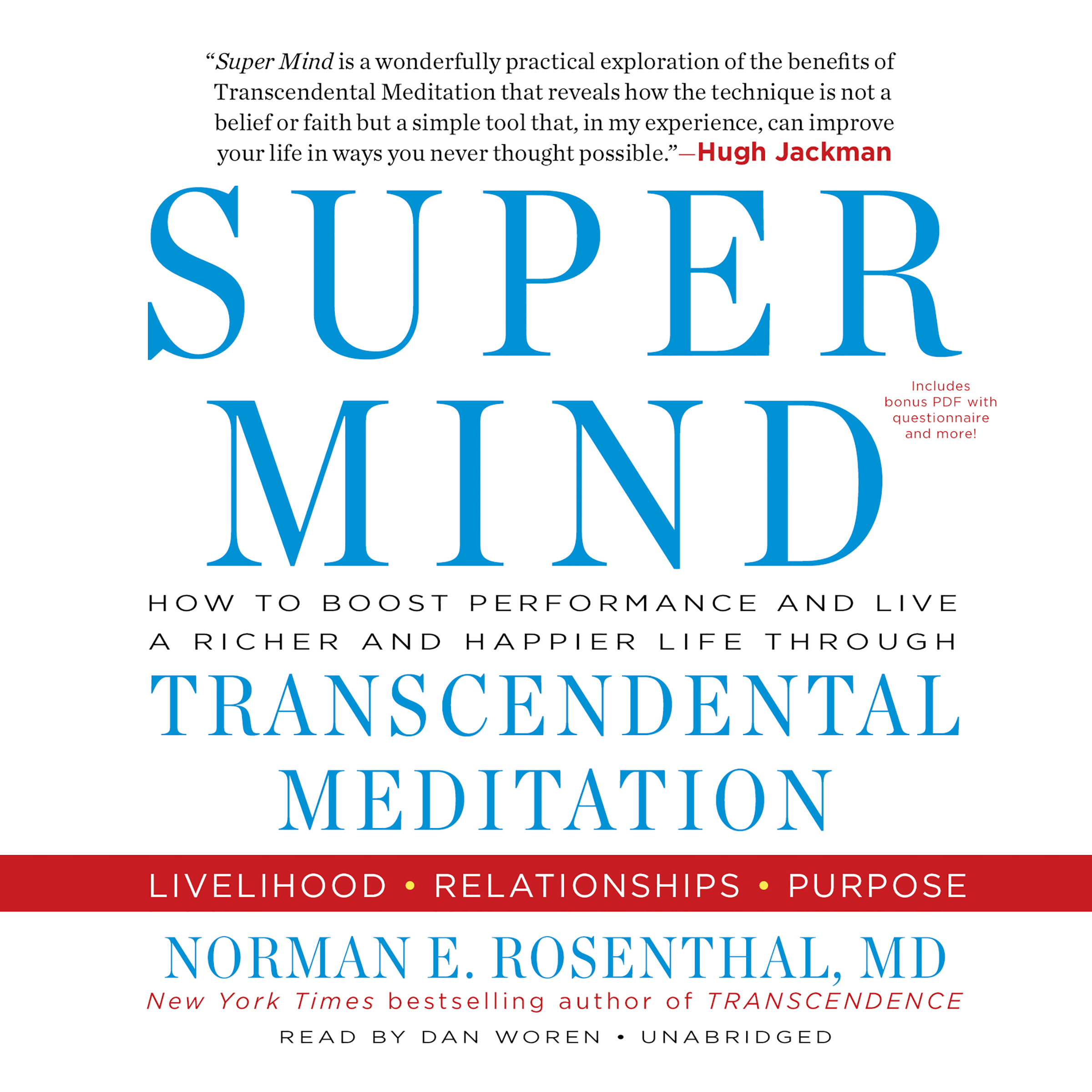 Printable Super Mind: How to Boost Performance and Live a Richer and Happier Life through Transcendental Meditation Audiobook Cover Art