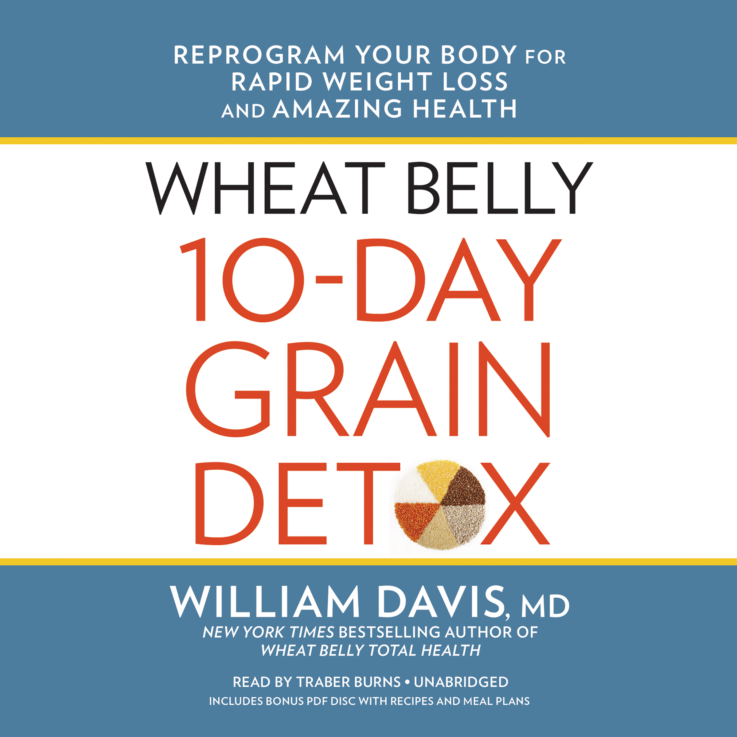 Printable Wheat Belly 10-Day Grain Detox: Reprogram Your Body for Rapid Weight Loss and Amazing Health Audiobook Cover Art