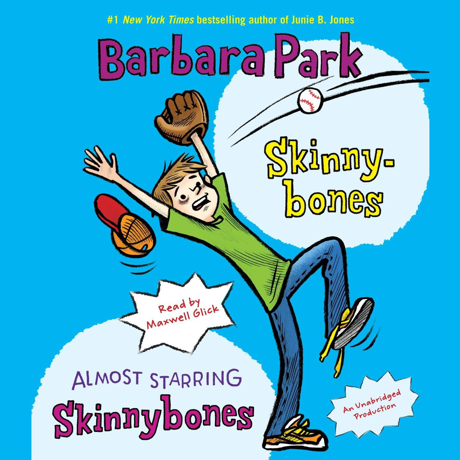 Printable Skinnybones & Almost Starring Skinnybones Audiobook Cover Art