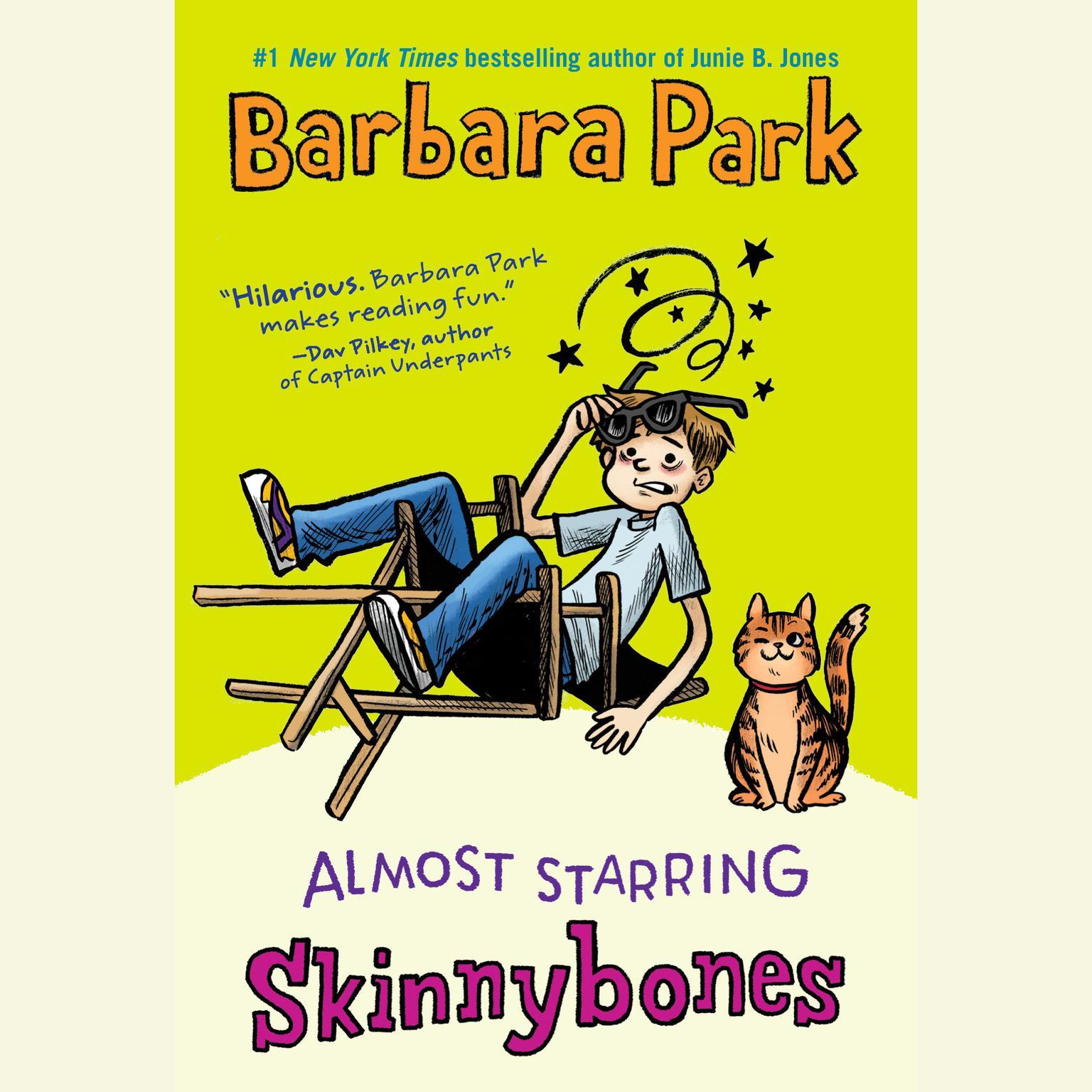 Printable Almost Starring Skinnybones Audiobook Cover Art