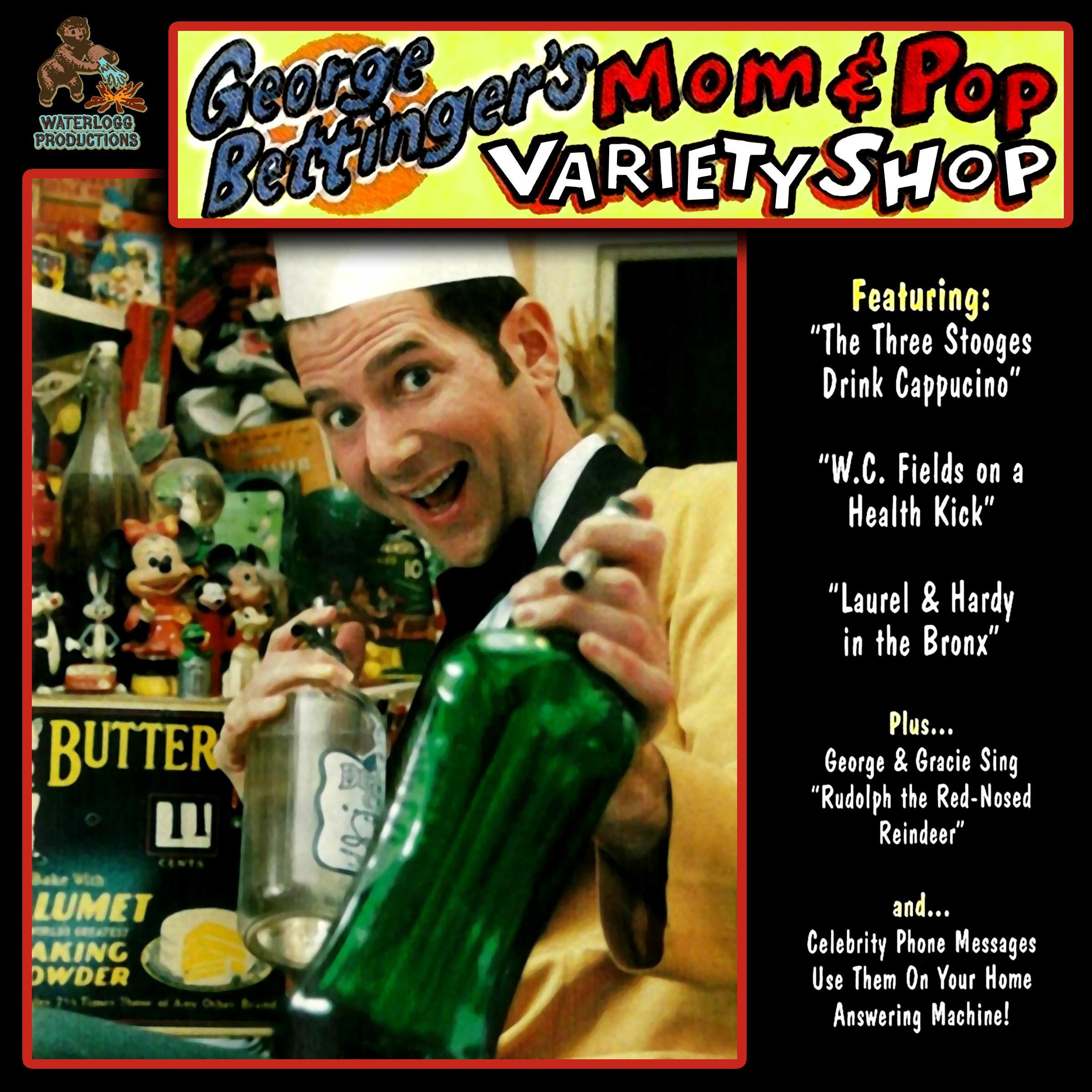 Printable George Bettinger's Mom & Pop Variety Shop Audiobook Cover Art