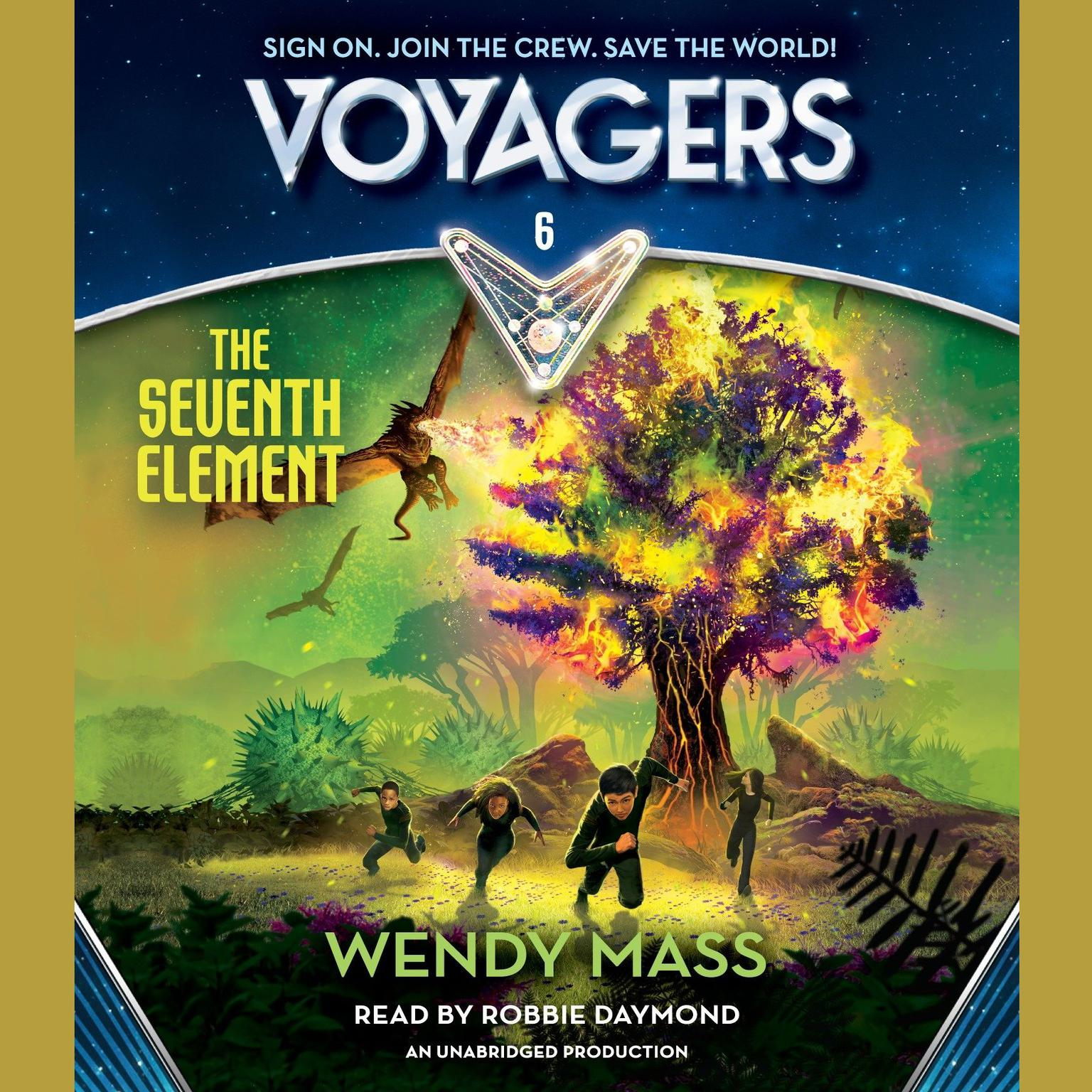 Printable Voyagers Book 6: The Seventh Element Audiobook Cover Art