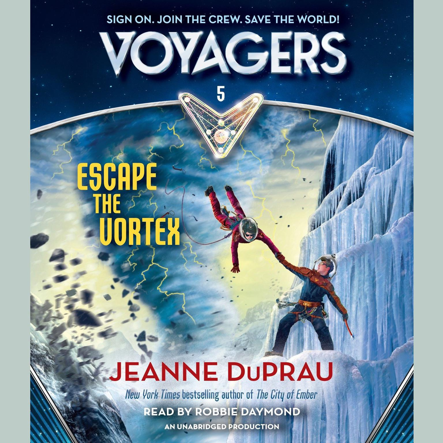 Printable Voyagers: Escape the Vortex (Book 5) Audiobook Cover Art