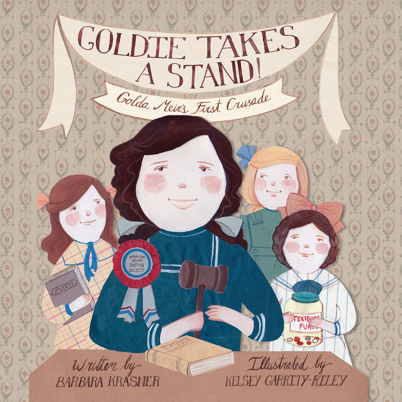 Printable Goldie Takes a Stand!: Golda Meir's First Crusade Audiobook Cover Art