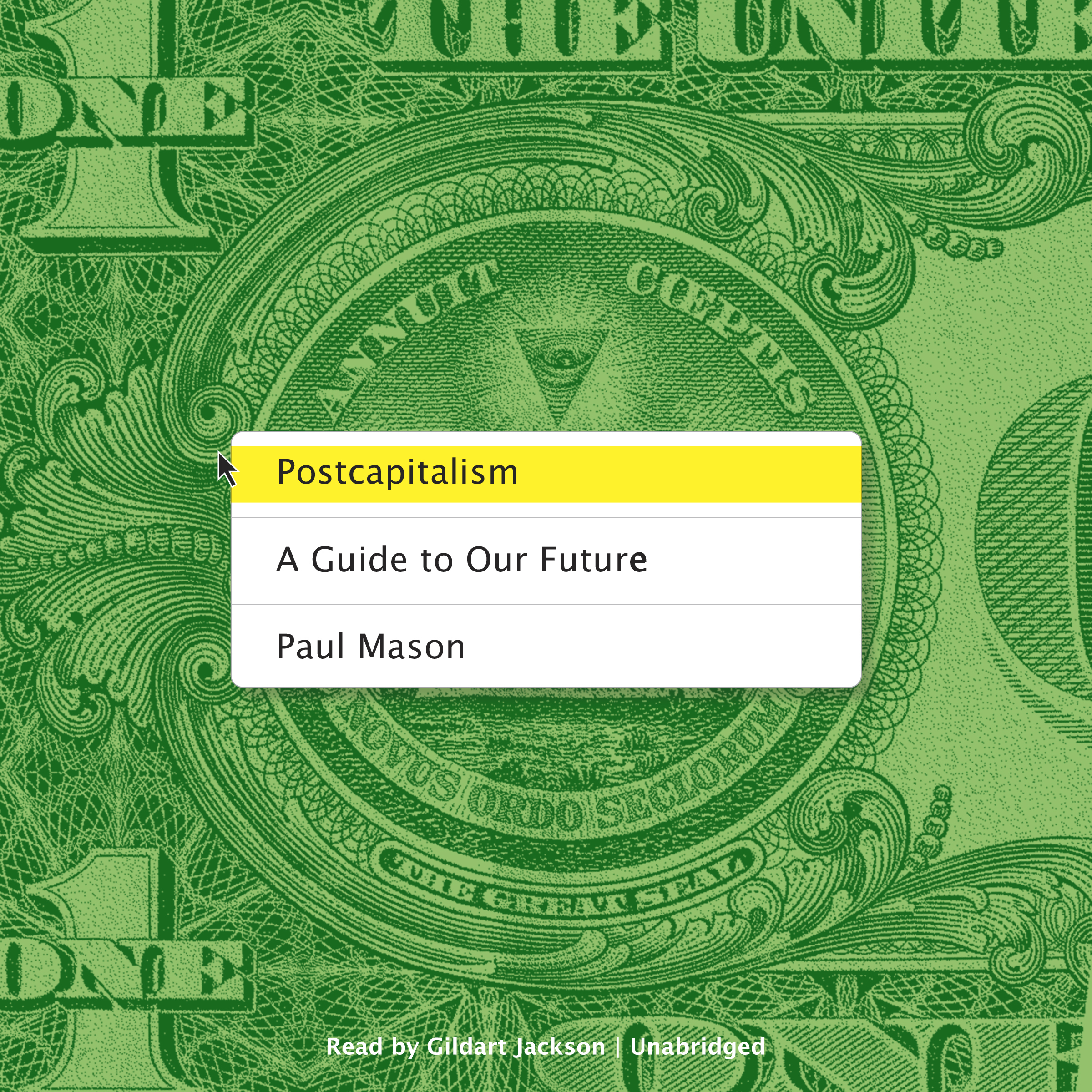 Printable Postcapitalism: A Guide to Our Future Audiobook Cover Art
