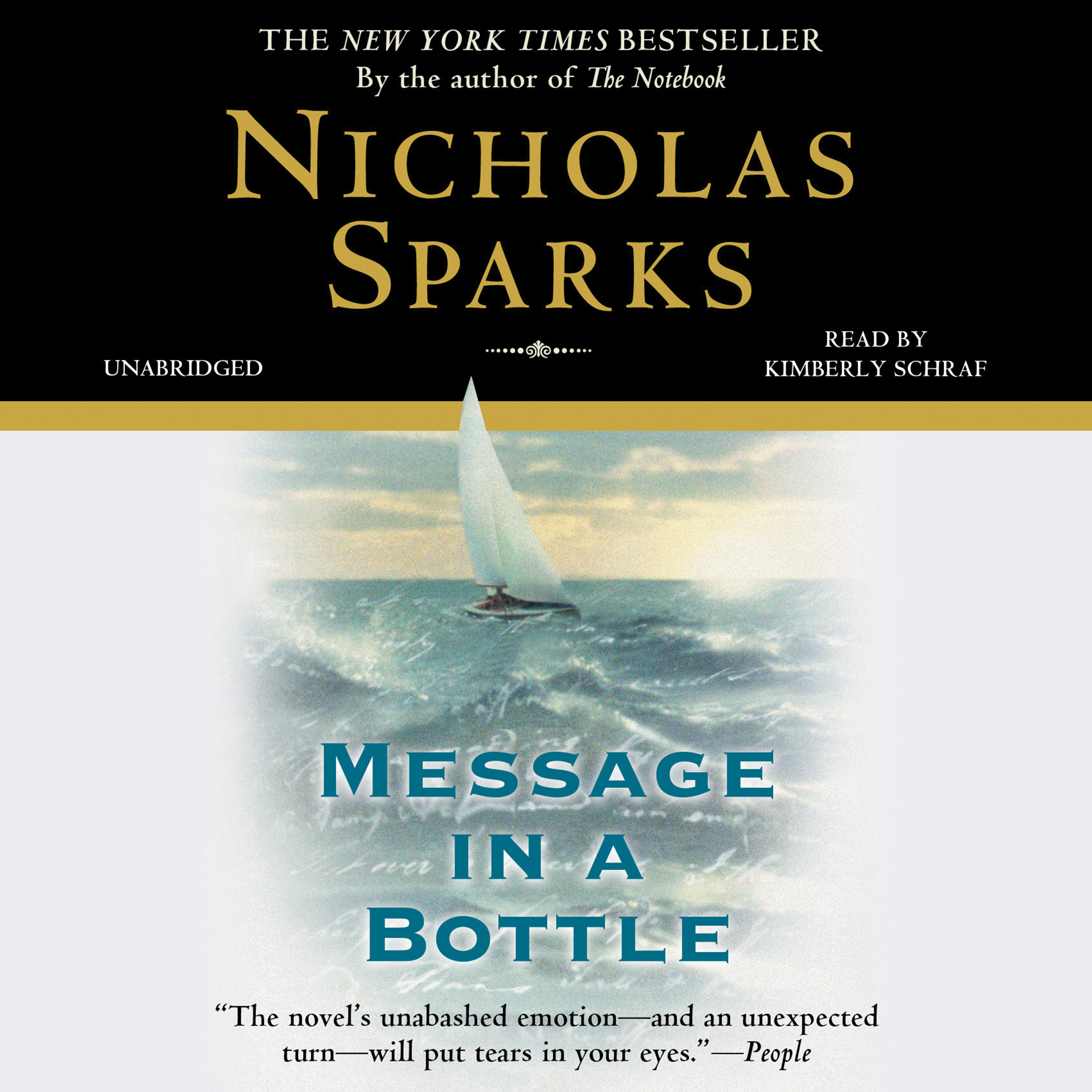 Printable Message in a Bottle Audiobook Cover Art