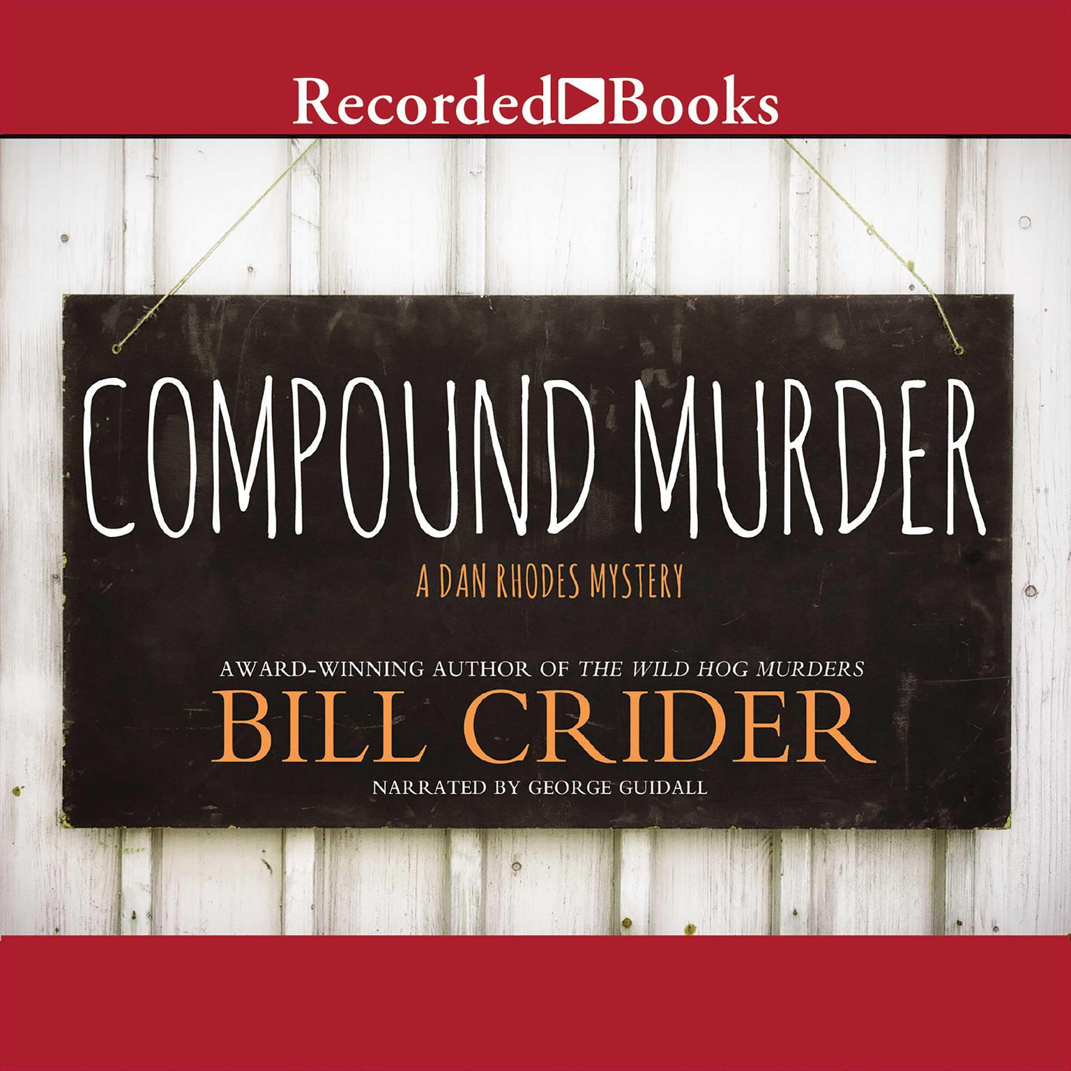 Printable Compound Murder Audiobook Cover Art