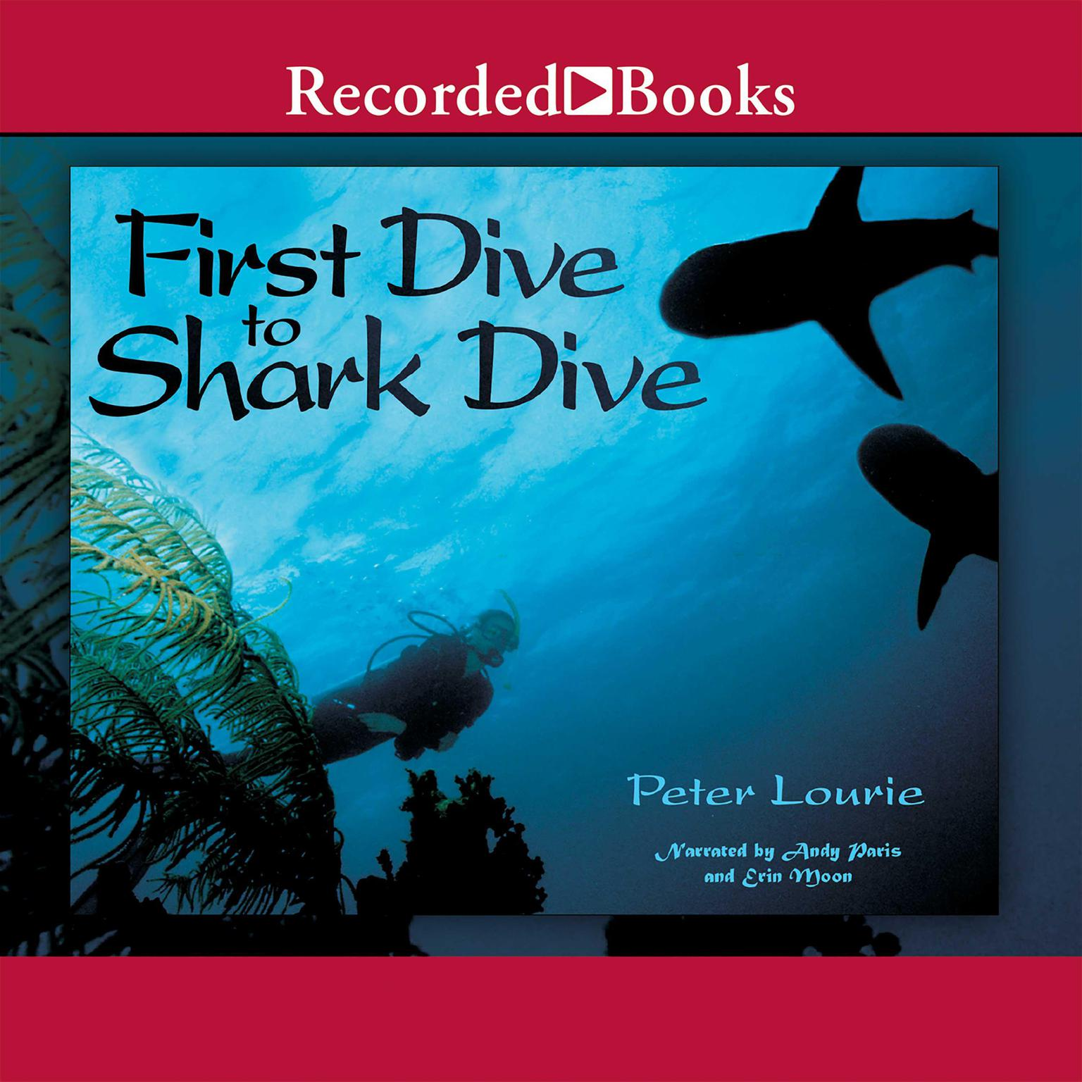Printable First Dive to Shark Dive Audiobook Cover Art