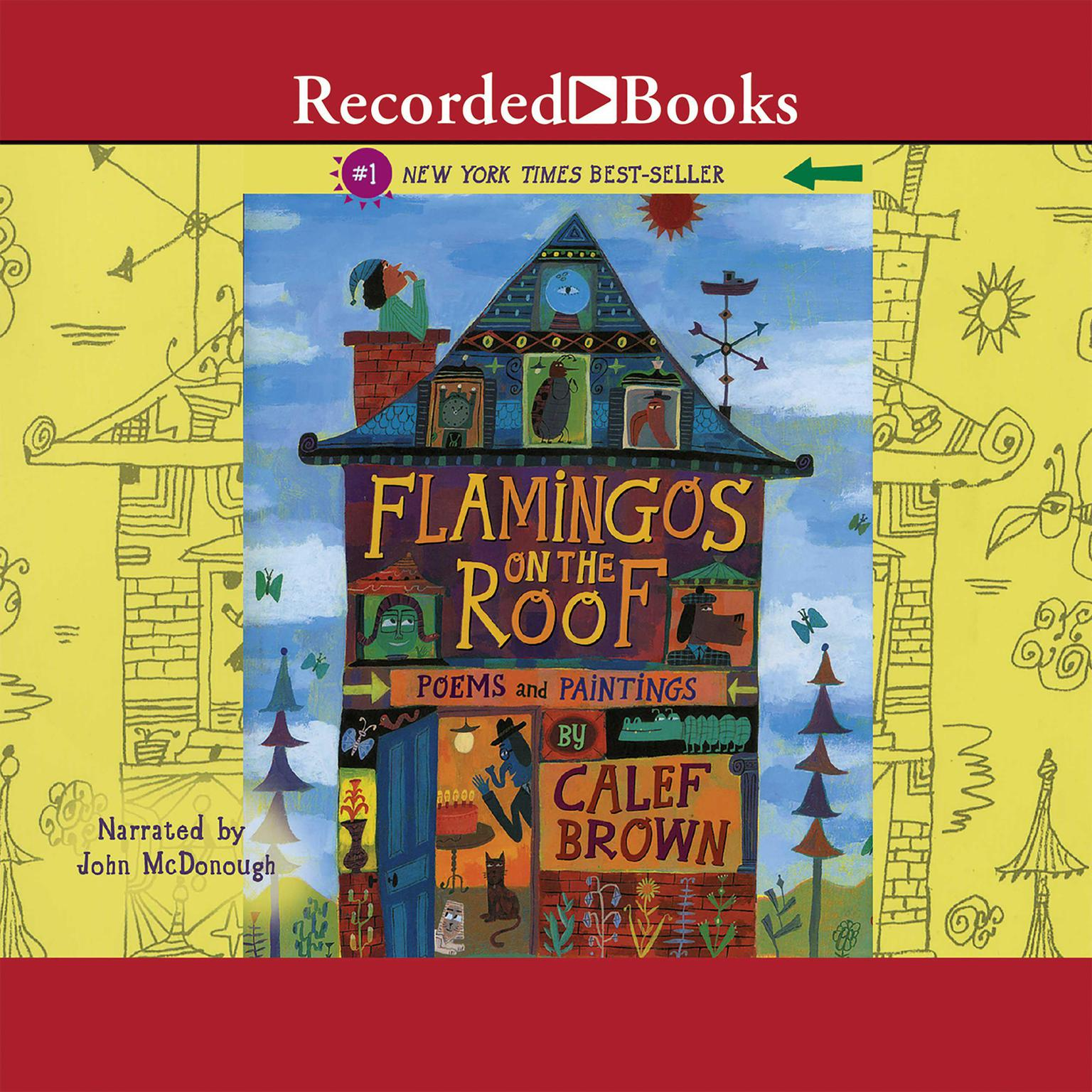 Printable Flamingos on the Roof Audiobook Cover Art