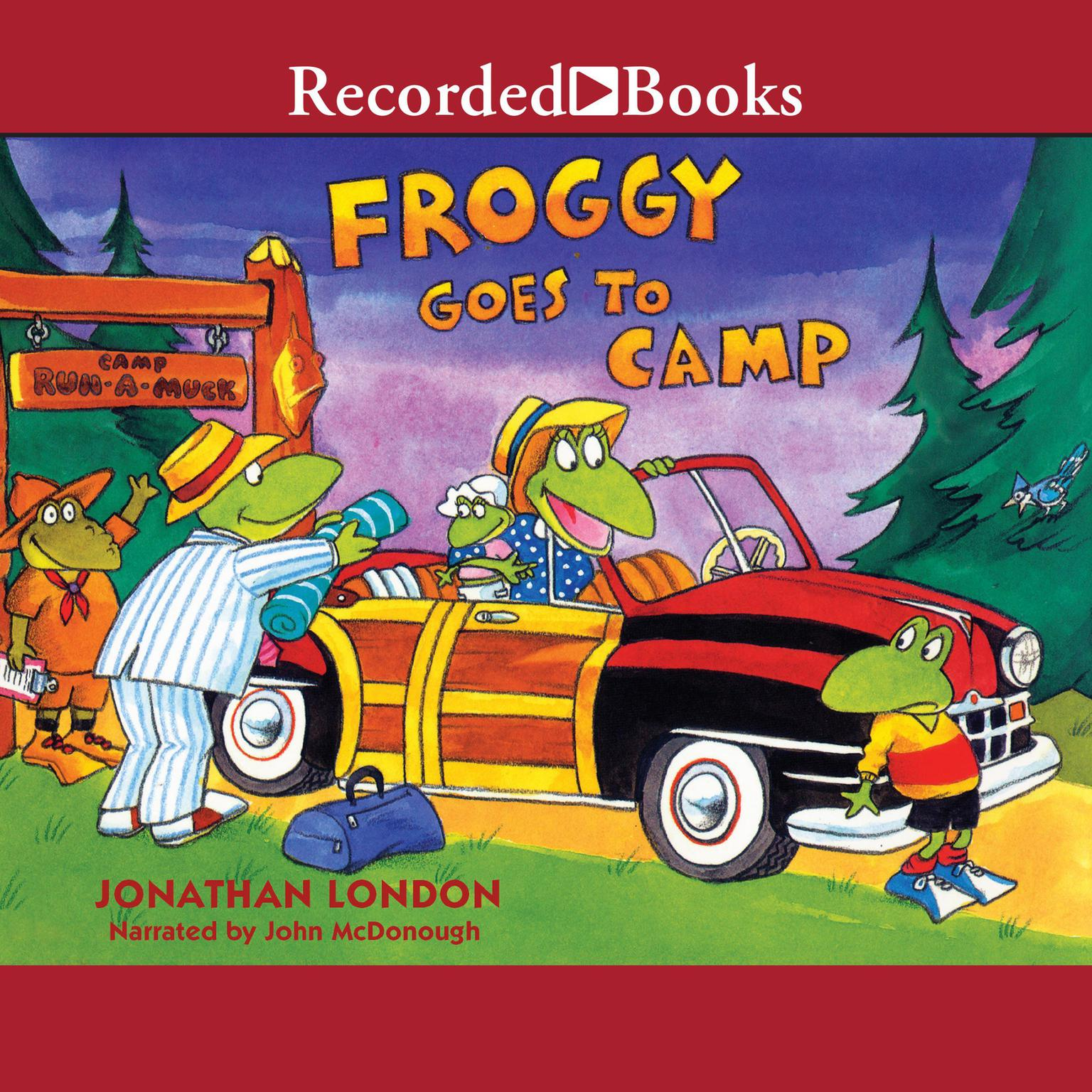 Printable Froggy Goes to Camp Audiobook Cover Art
