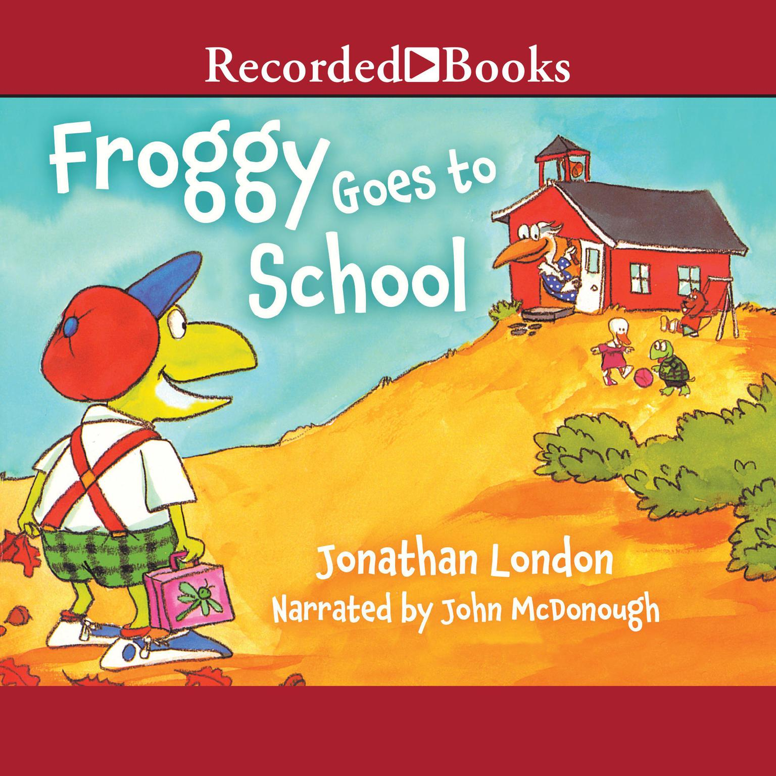 Printable Froggy Goes to School Audiobook Cover Art