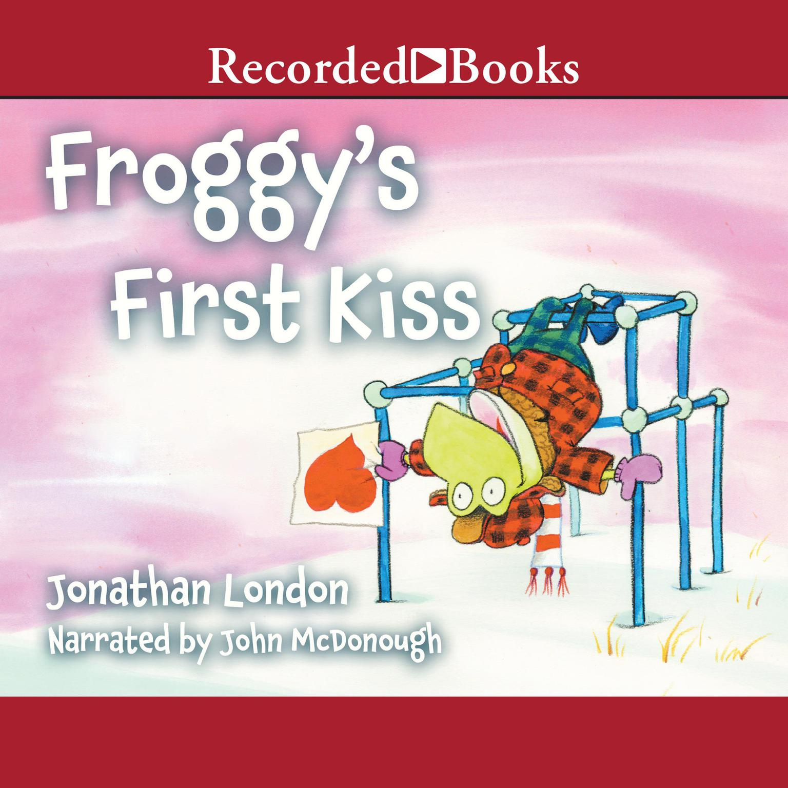 Printable Froggy's First Kiss Audiobook Cover Art