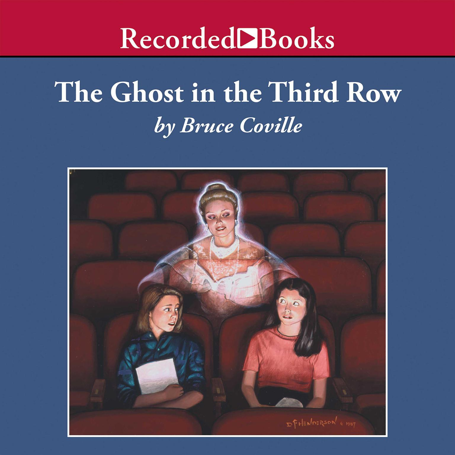 Printable The Ghost in the Third Row Audiobook Cover Art