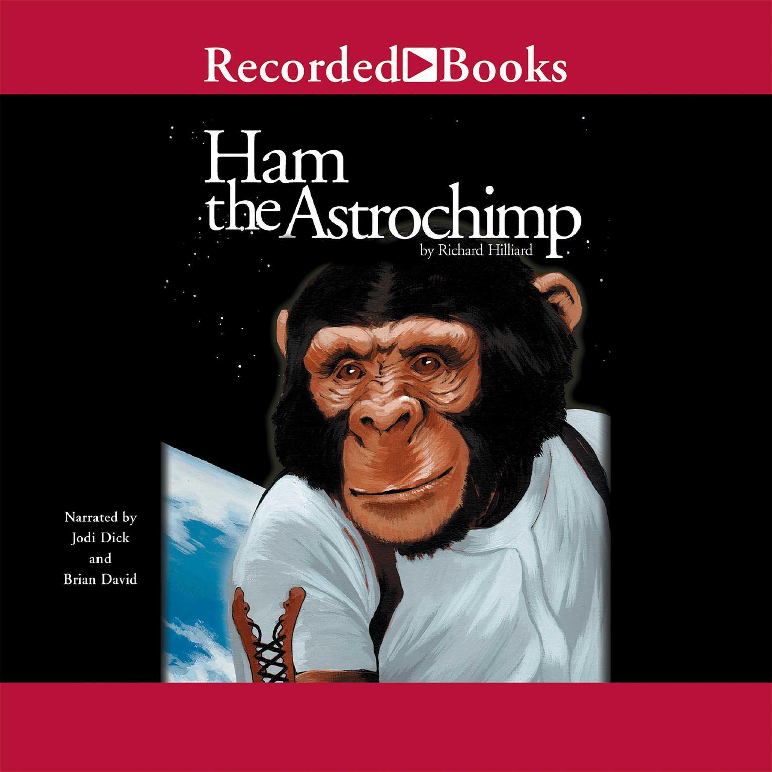 Printable Ham the Astrochimp Audiobook Cover Art