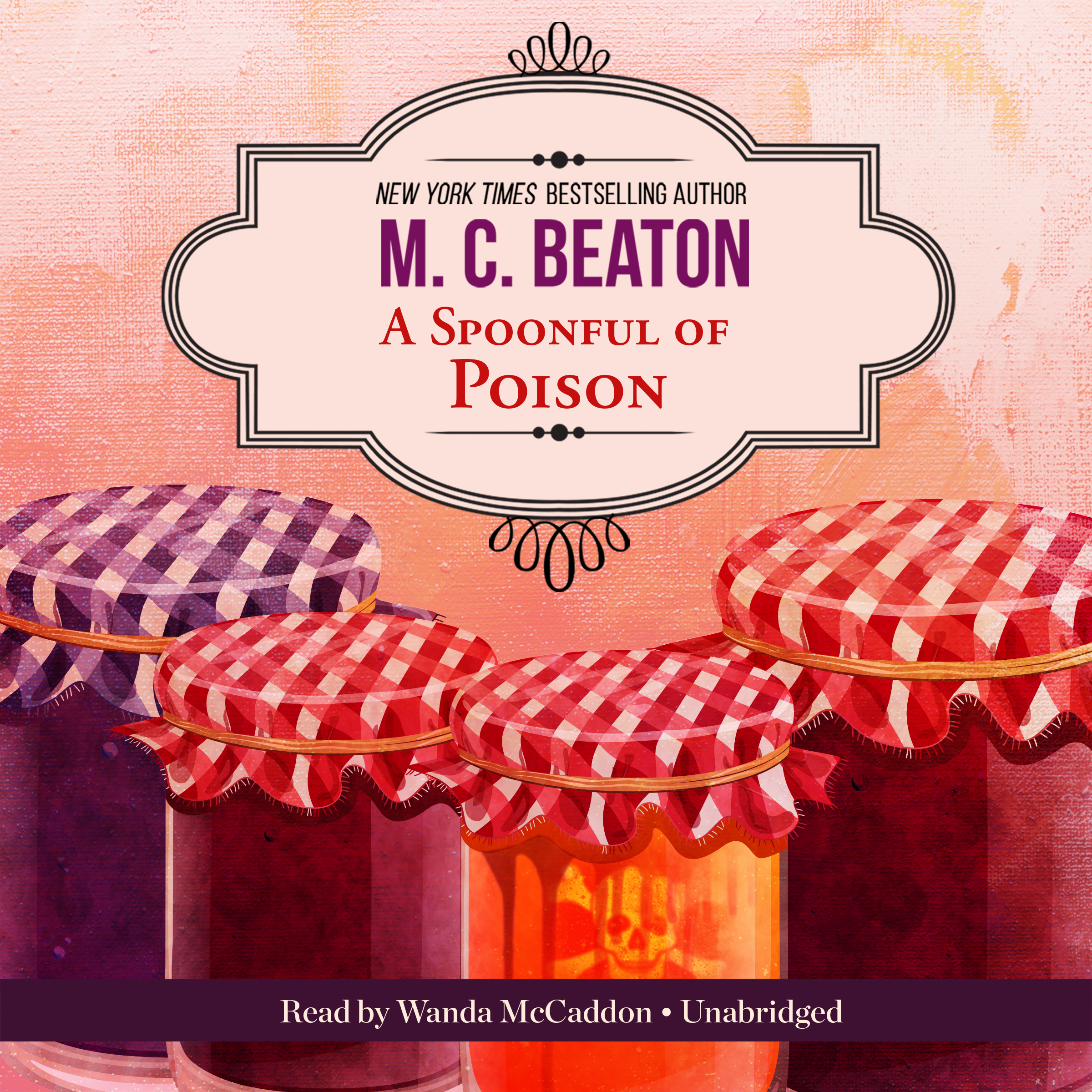 Printable A Spoonful of Poison: An Agatha Raisin Mystery Audiobook Cover Art