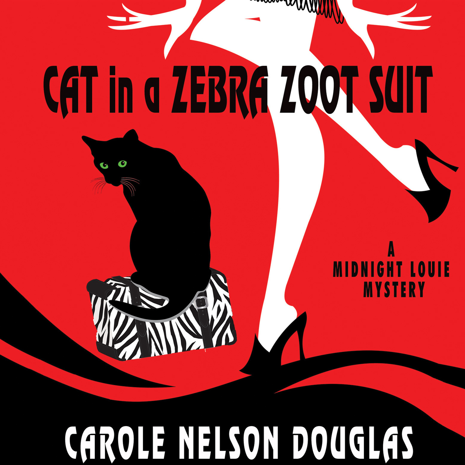 Printable Cat in a Zebra Zoot Suit: A Midnight Louie Mystery Audiobook Cover Art
