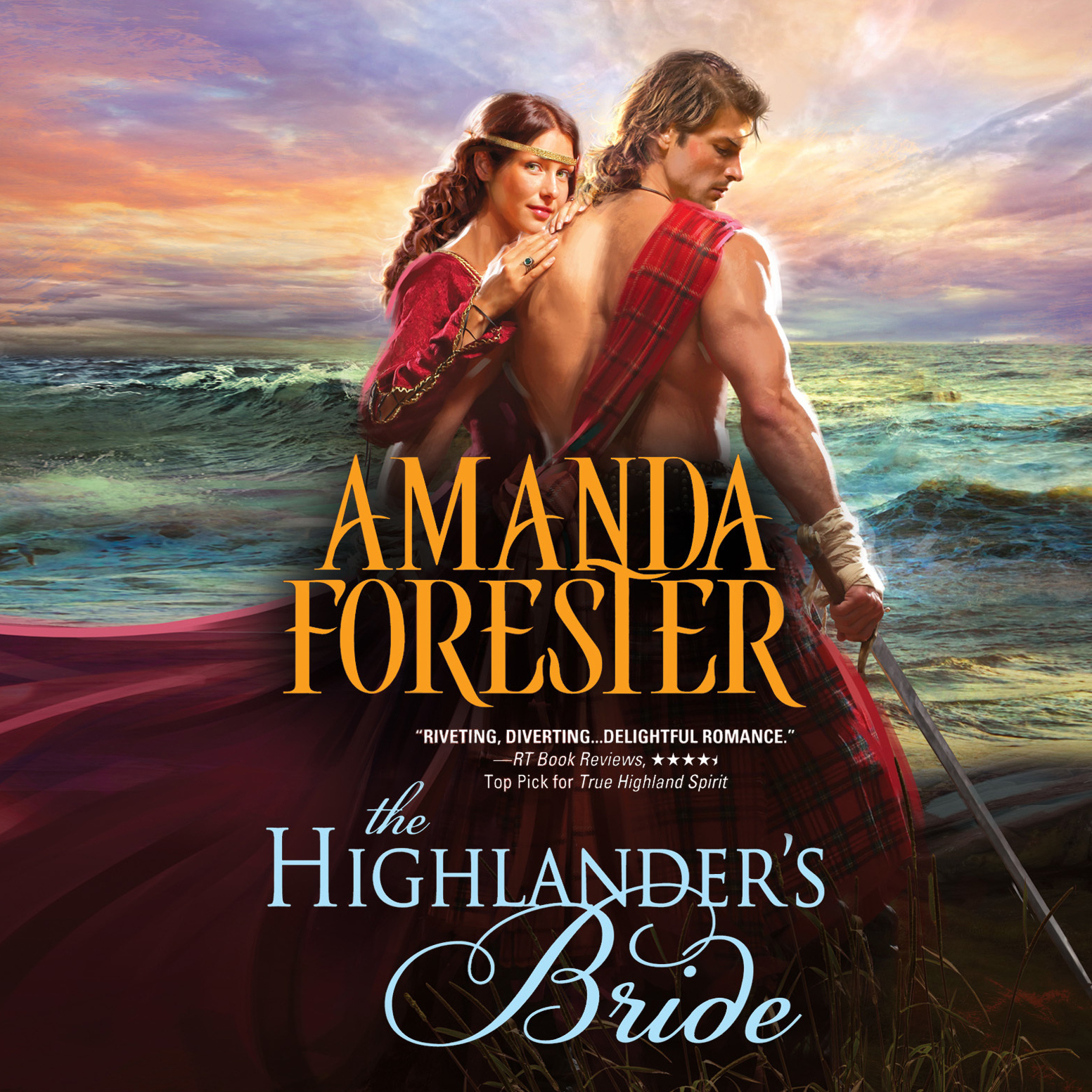 Printable The Highlander's Bride Audiobook Cover Art