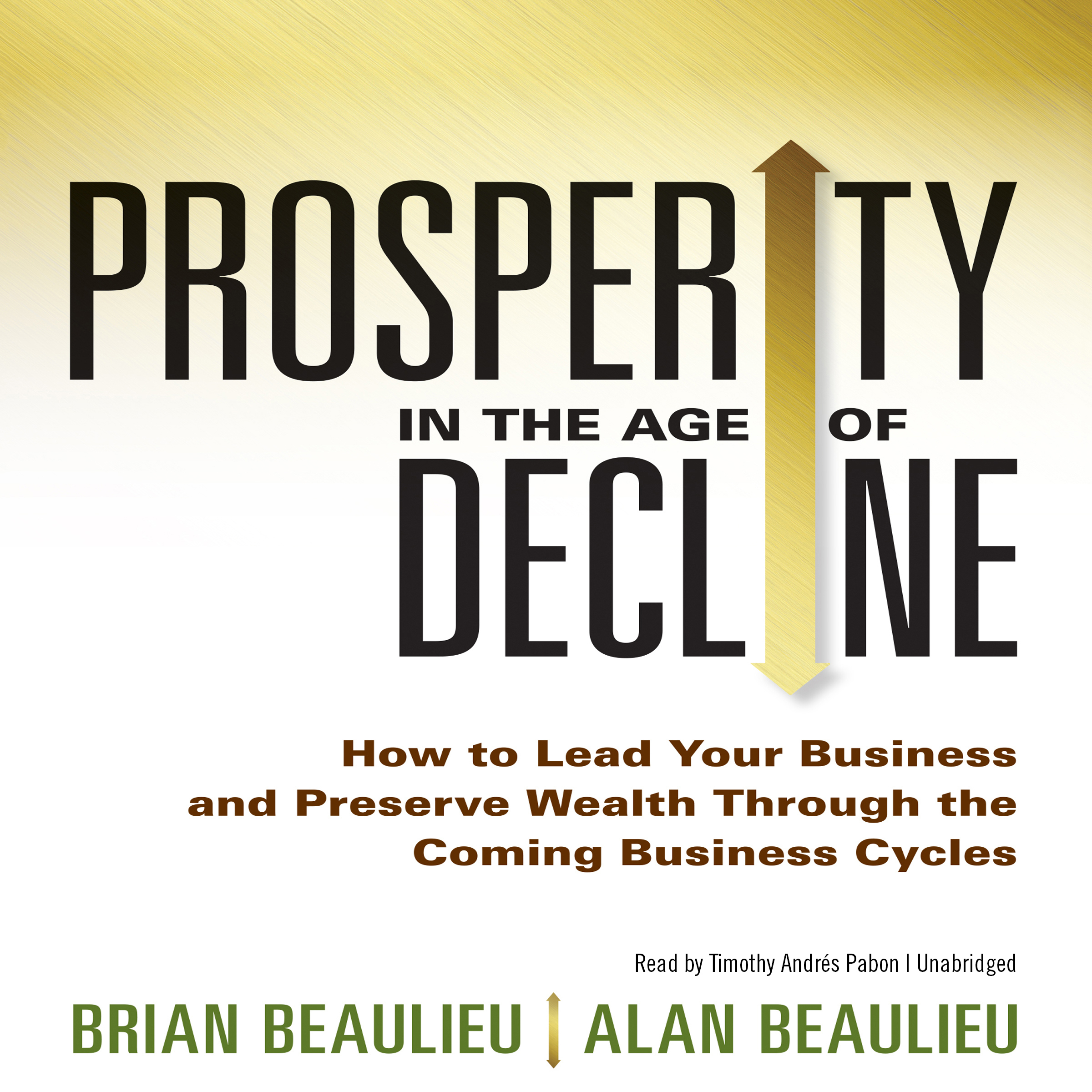 Printable Prosperity in the Age of Decline: How to Lead Your Business and Preserve Wealth through the Coming Business Cycles Audiobook Cover Art