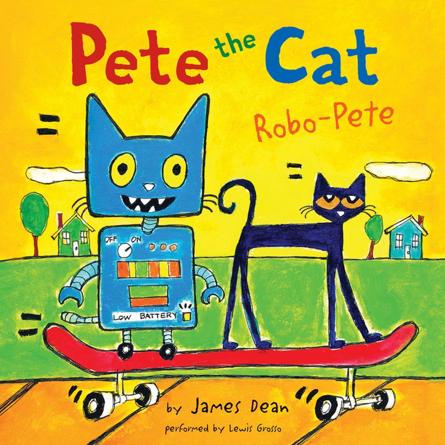 Printable Pete the Cat: Robo-Pete Audiobook Cover Art