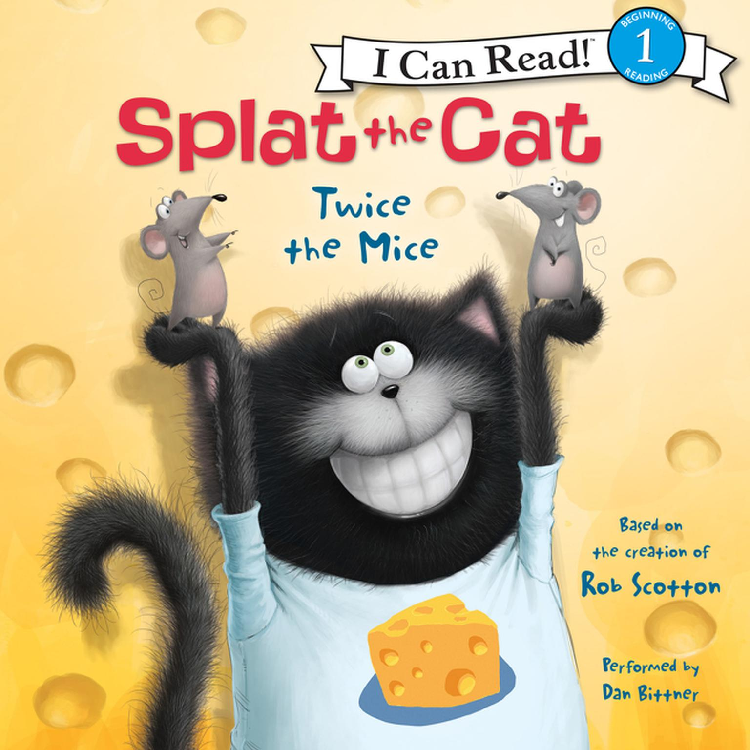 Printable Splat the Cat: Twice the Mice Audiobook Cover Art
