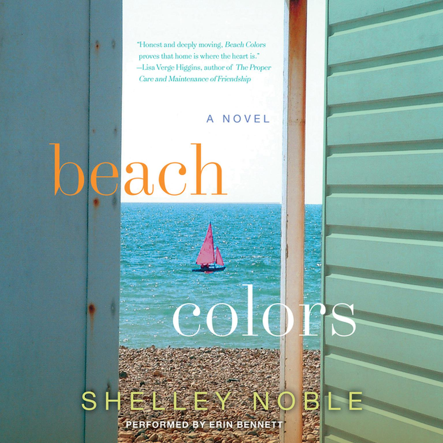 Printable Beach Colors: A Novel Audiobook Cover Art