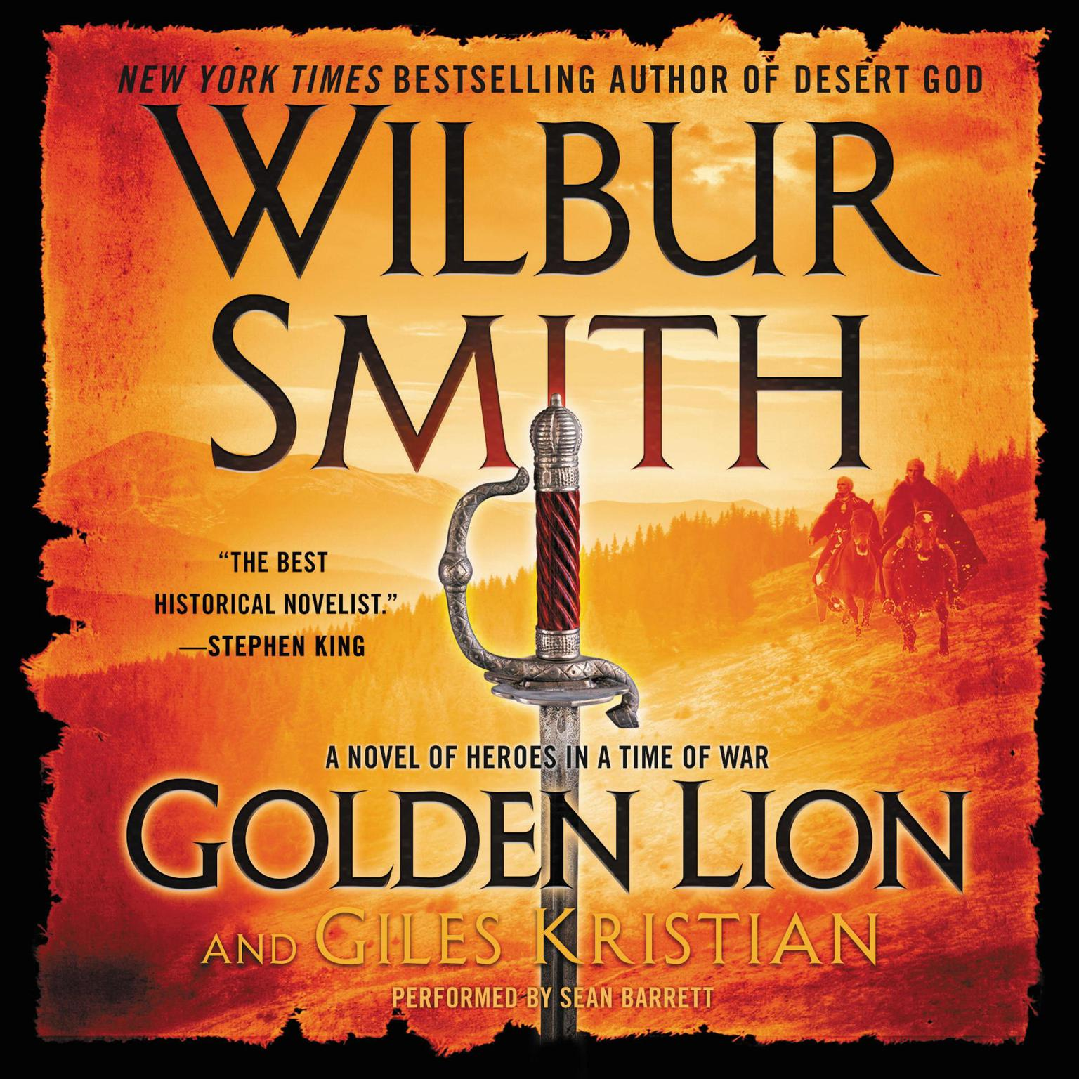 Printable Golden Lion: A Novel of Heroes in a Time of War Audiobook Cover Art