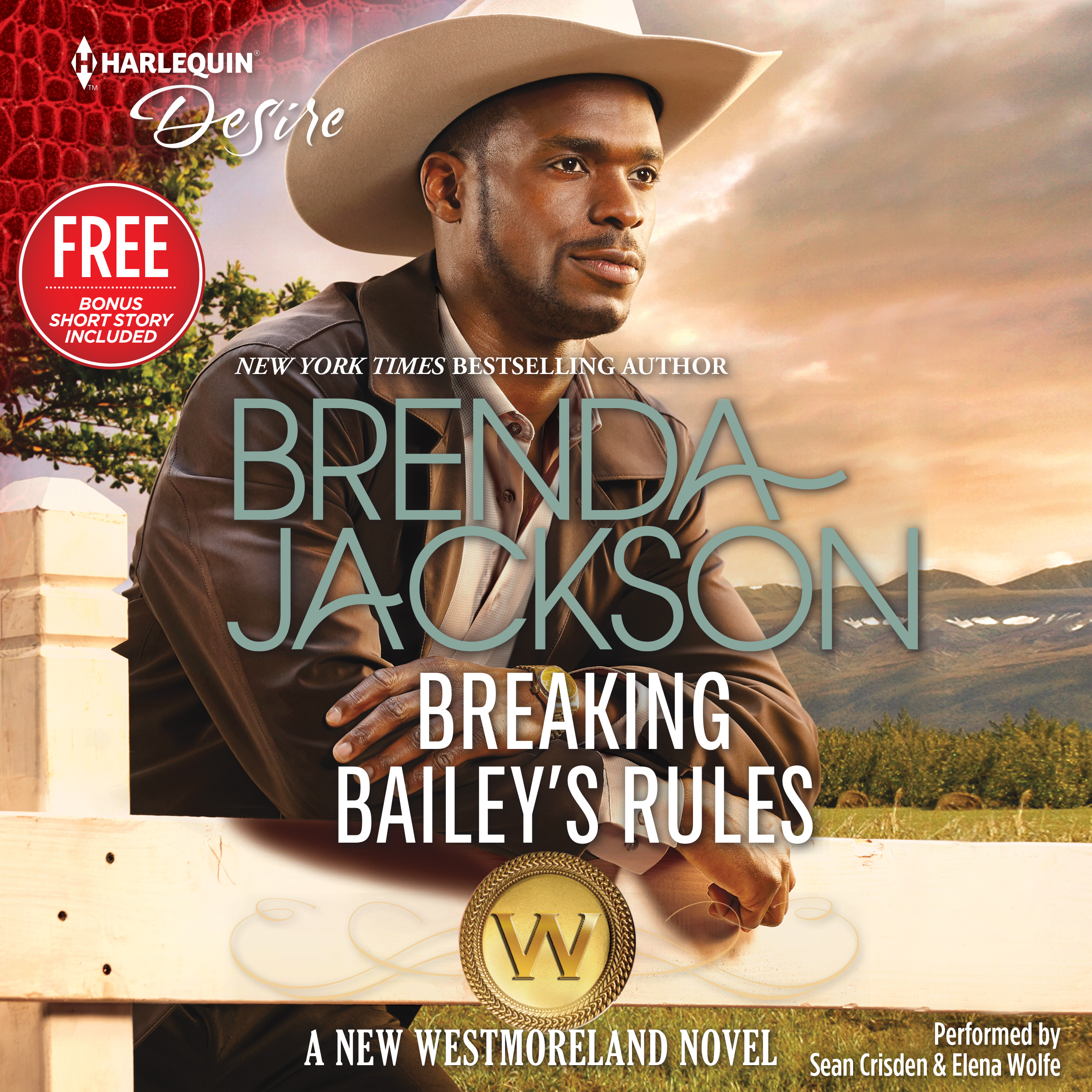 Printable Breaking Bailey's Rules: w/ Bonus Book: Reclaimed by the Rancher Audiobook Cover Art