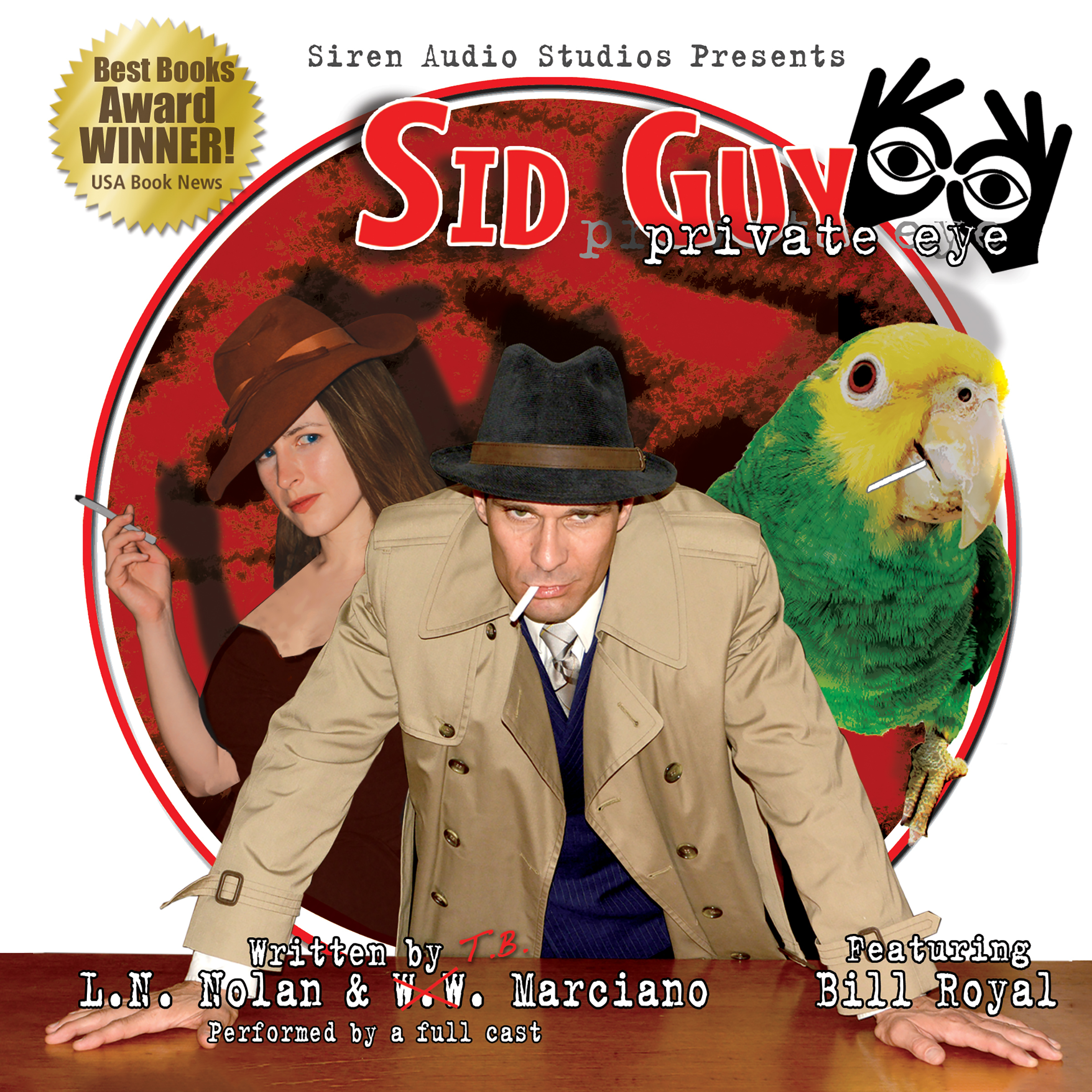 Printable Sid Guy: Private Eye: The Case of the Mysterious Woman & The Case of the Missing Boxer Audiobook Cover Art