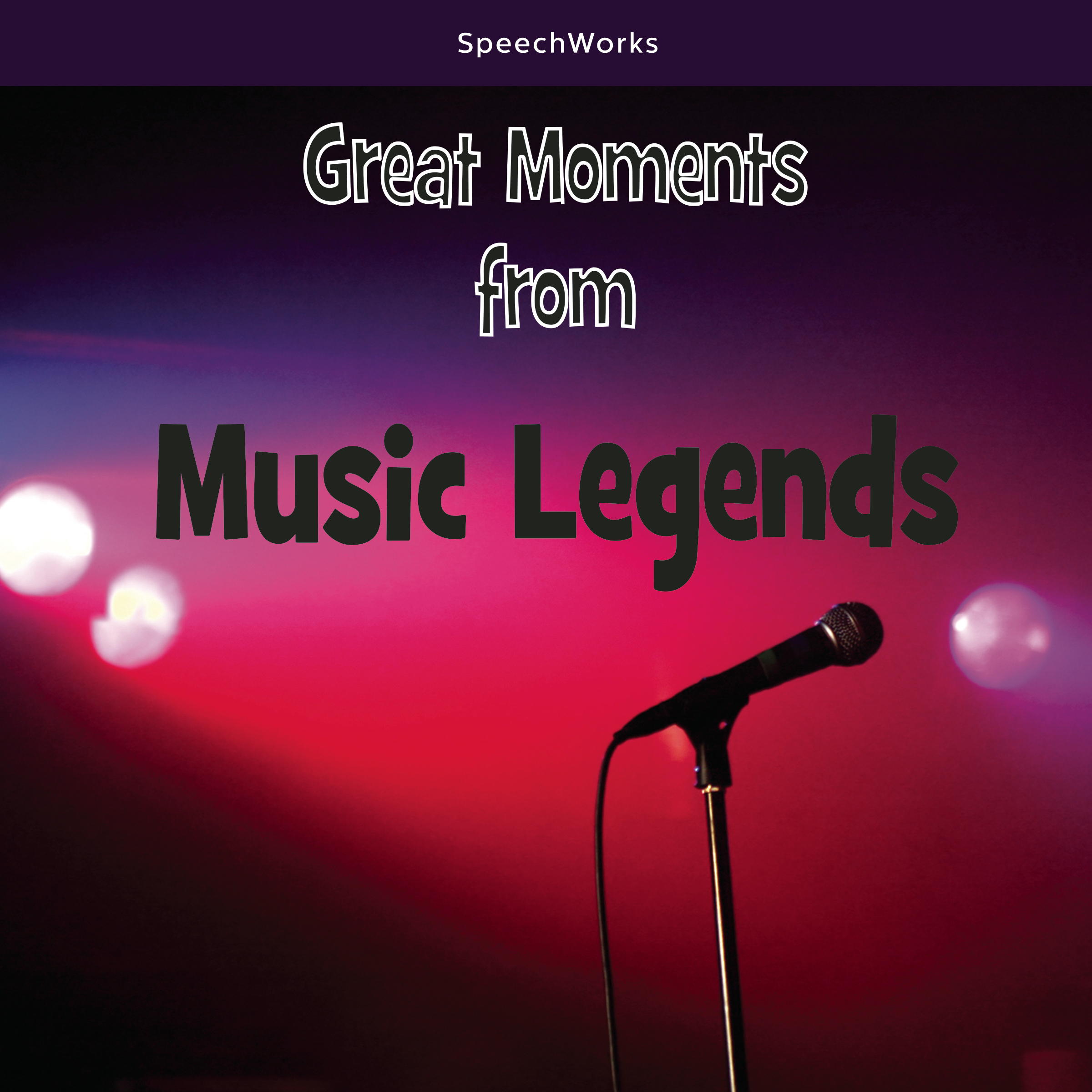Printable Great Moments from Music Legends Audiobook Cover Art