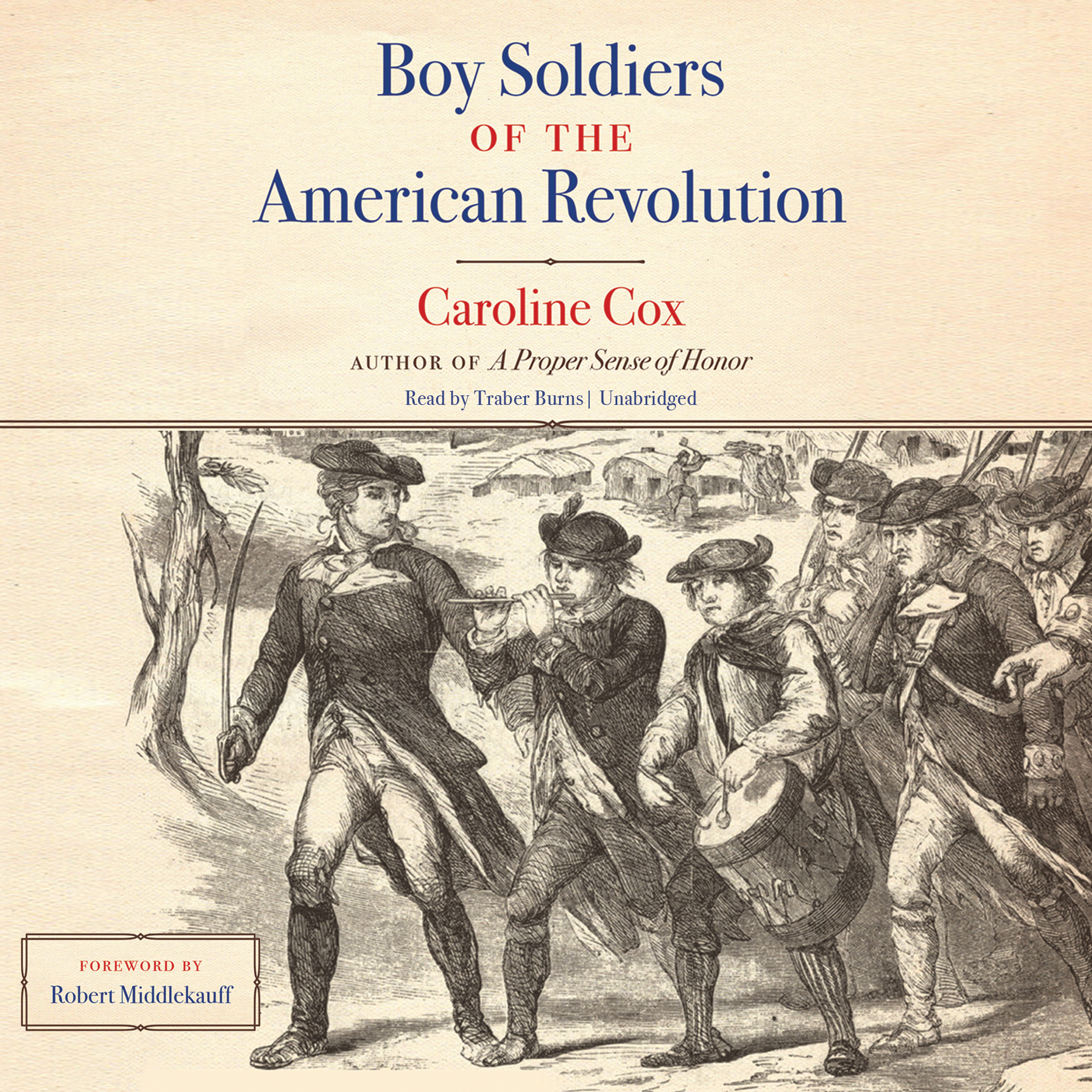 Printable Boy Soldiers of the American Revolution Audiobook Cover Art