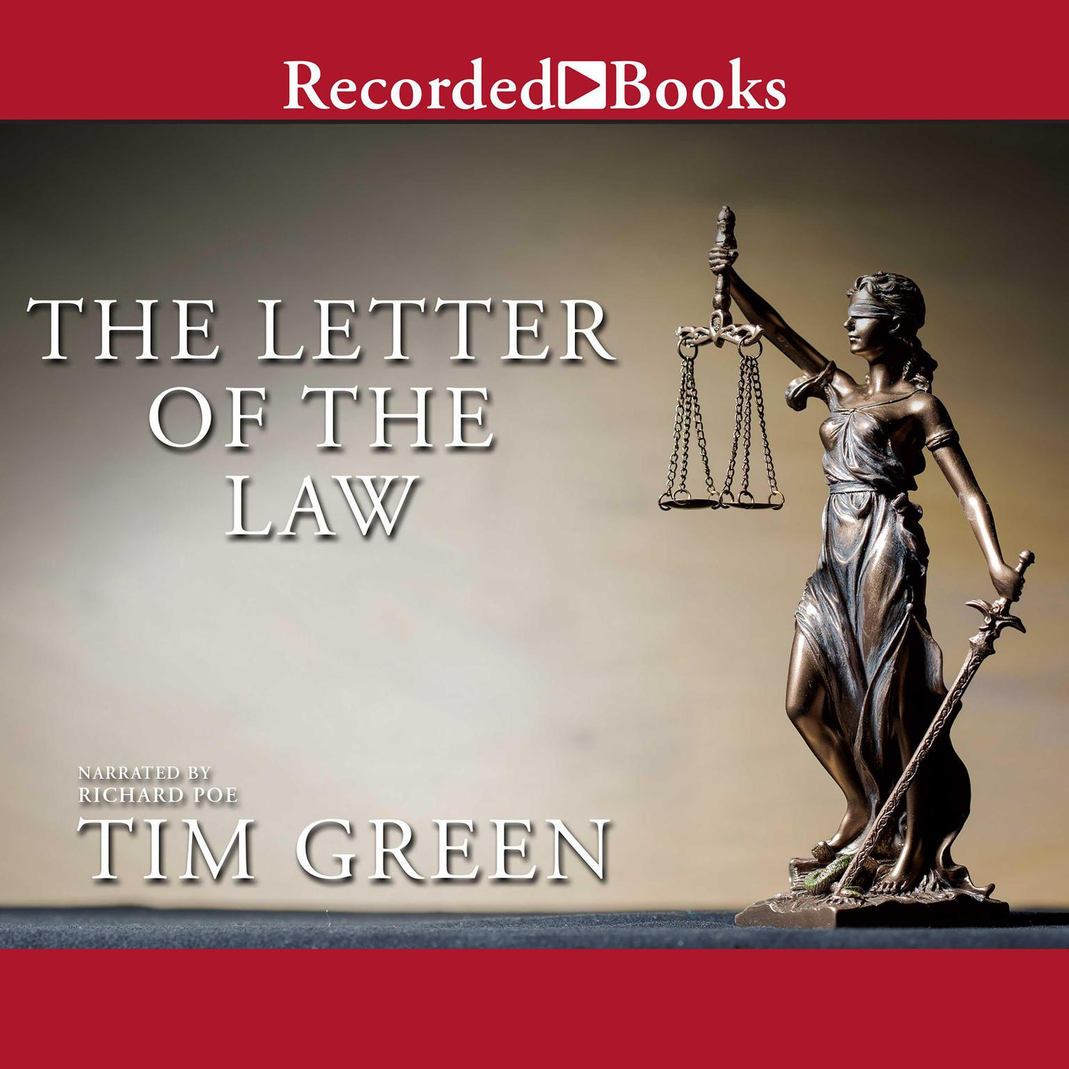 Printable The Letter of the Law Audiobook Cover Art