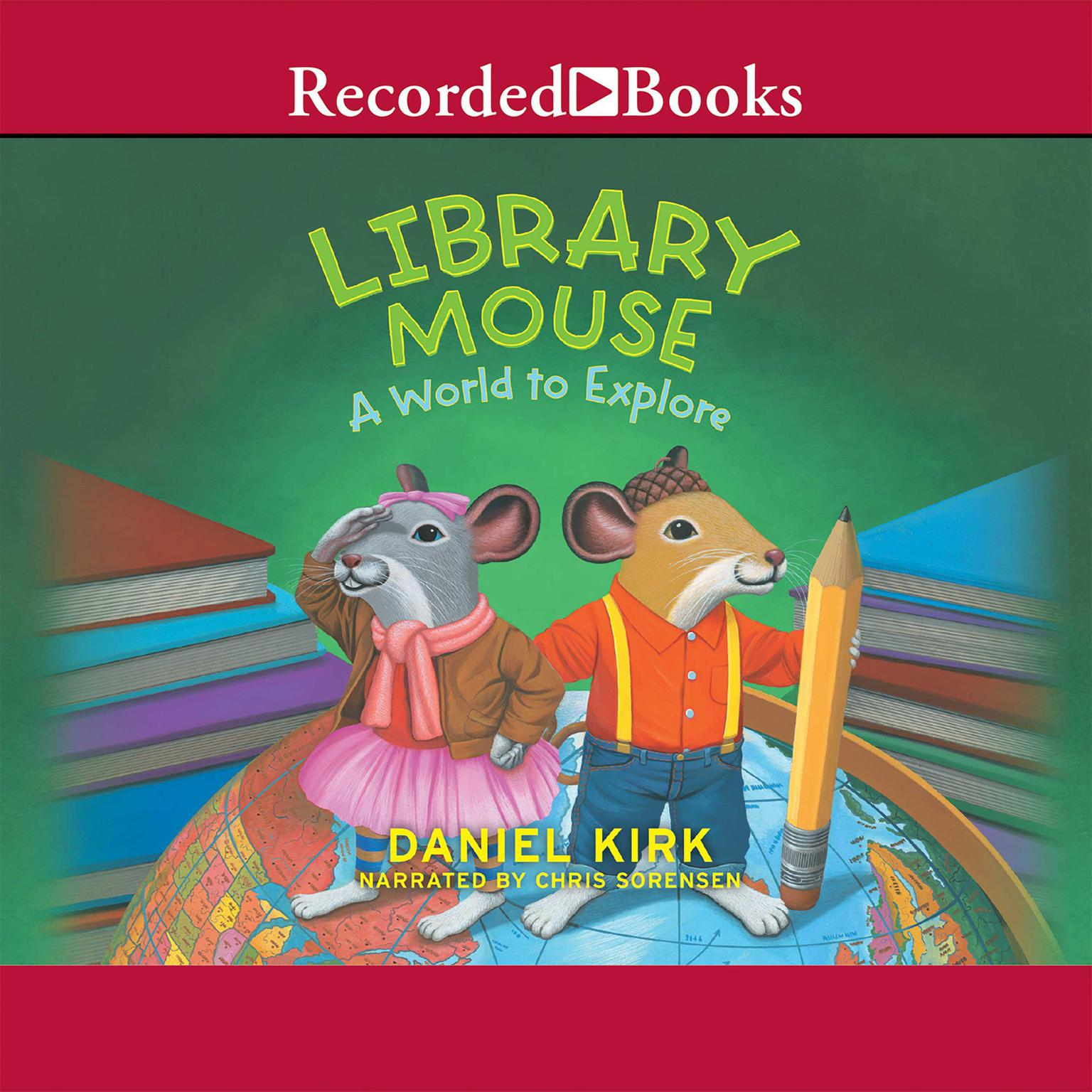 Printable Library Mouse: A World to Explore Audiobook Cover Art