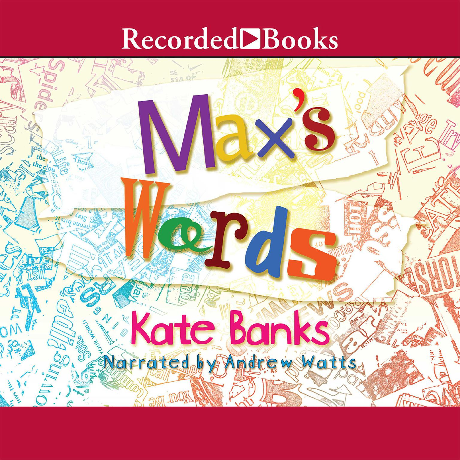 Printable Max's Words Audiobook Cover Art