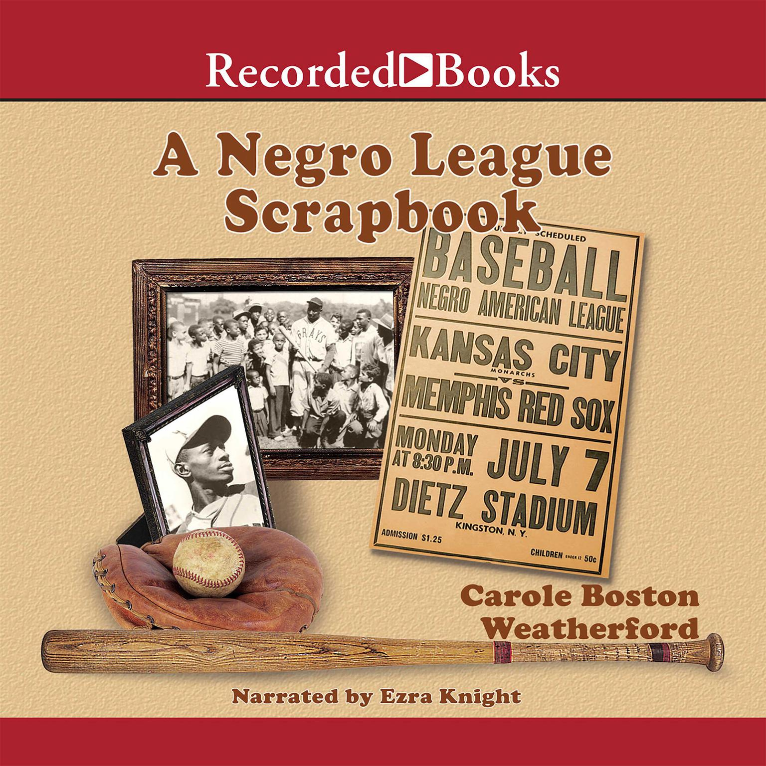 Printable A Negro League Scrapbook Audiobook Cover Art