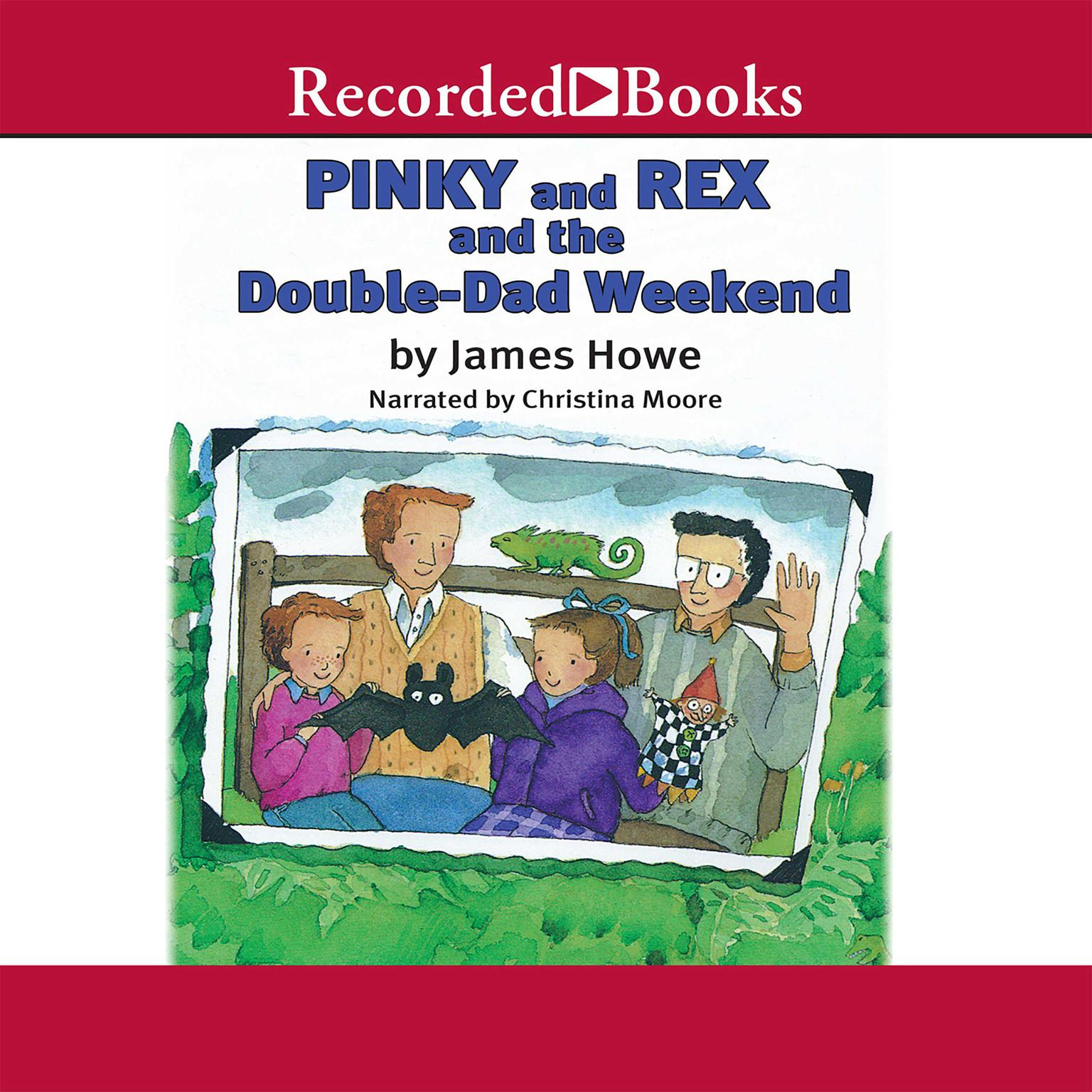 Printable Pinky and Rex and the Double Dad Weekend Audiobook Cover Art