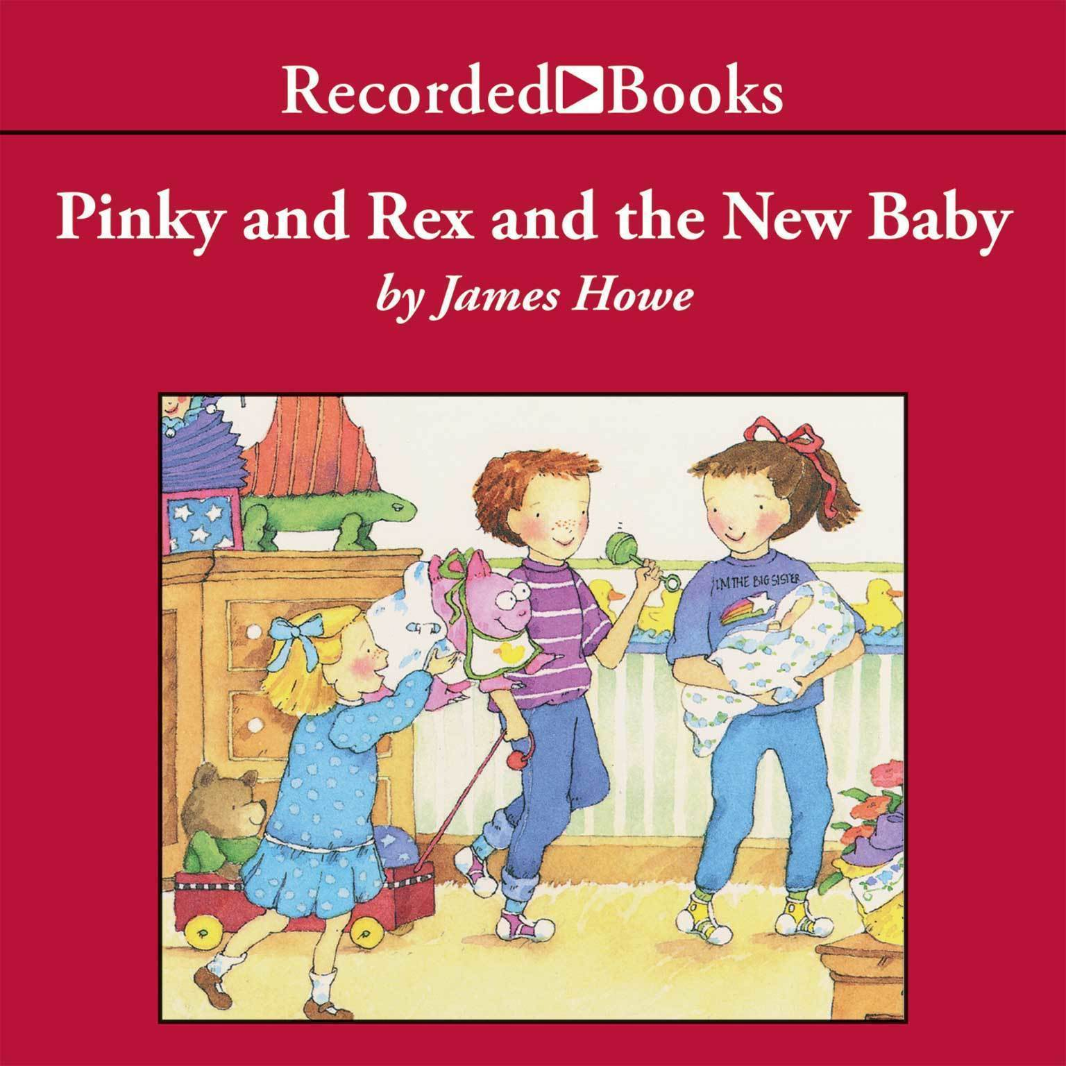 Printable Pinky and Rex and the New Baby Audiobook Cover Art