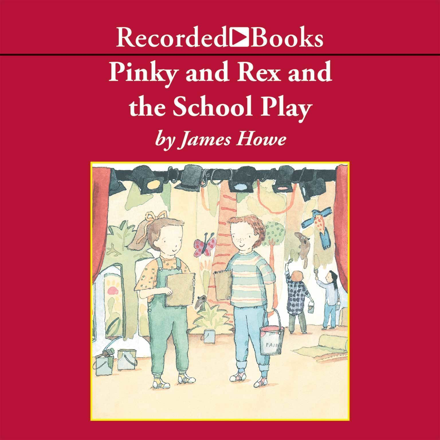 Printable Pinky and Rex and the School Play Audiobook Cover Art