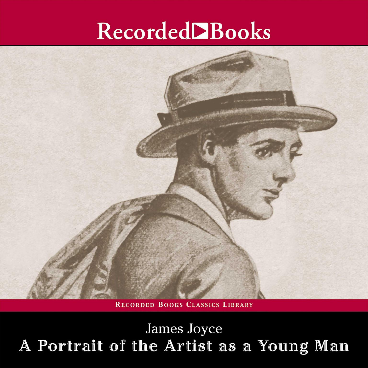 Printable A Portrait of the Artist as a Young Man Audiobook Cover Art