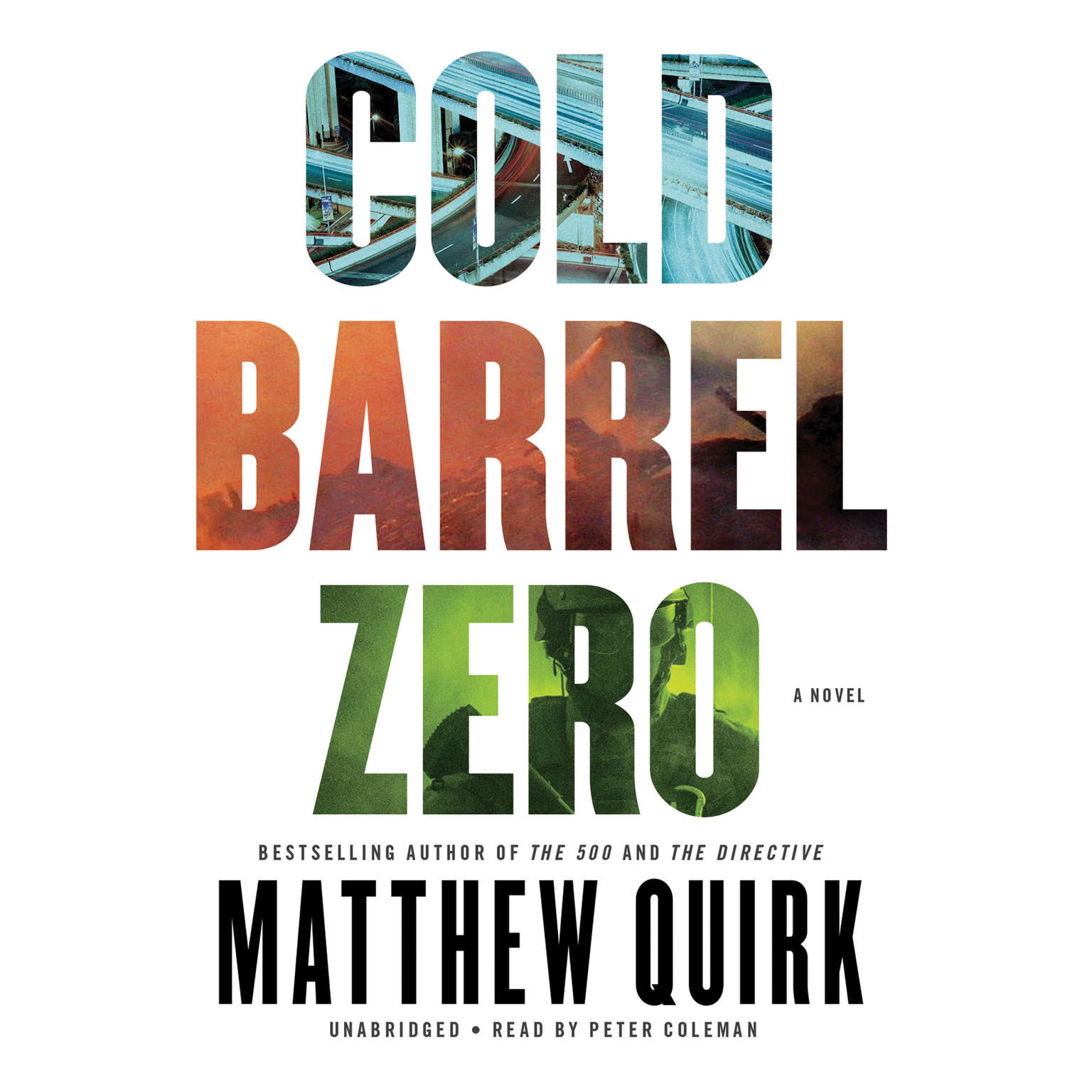Printable Cold Barrel Zero Audiobook Cover Art