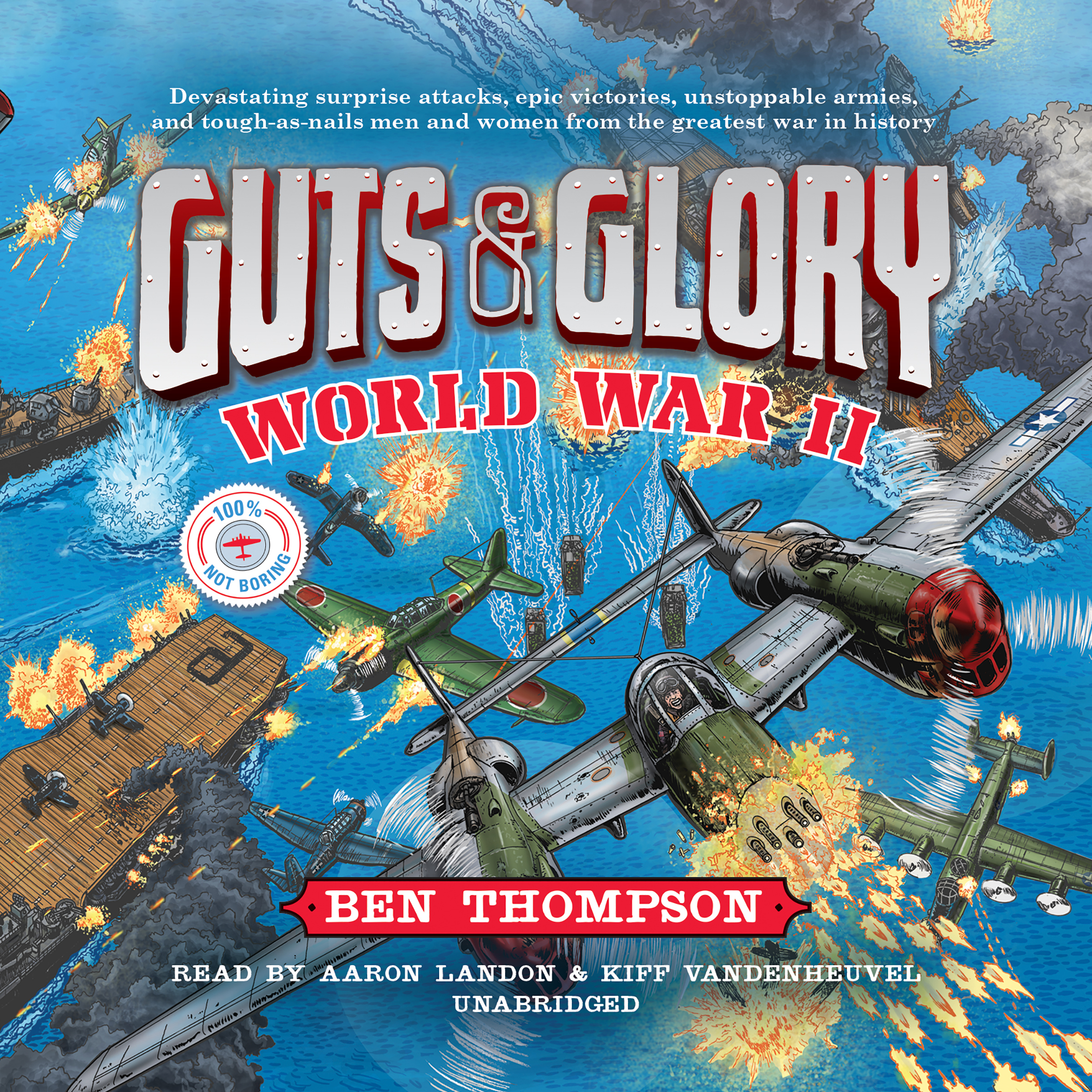 Printable Guts & Glory: World War II Audiobook Cover Art