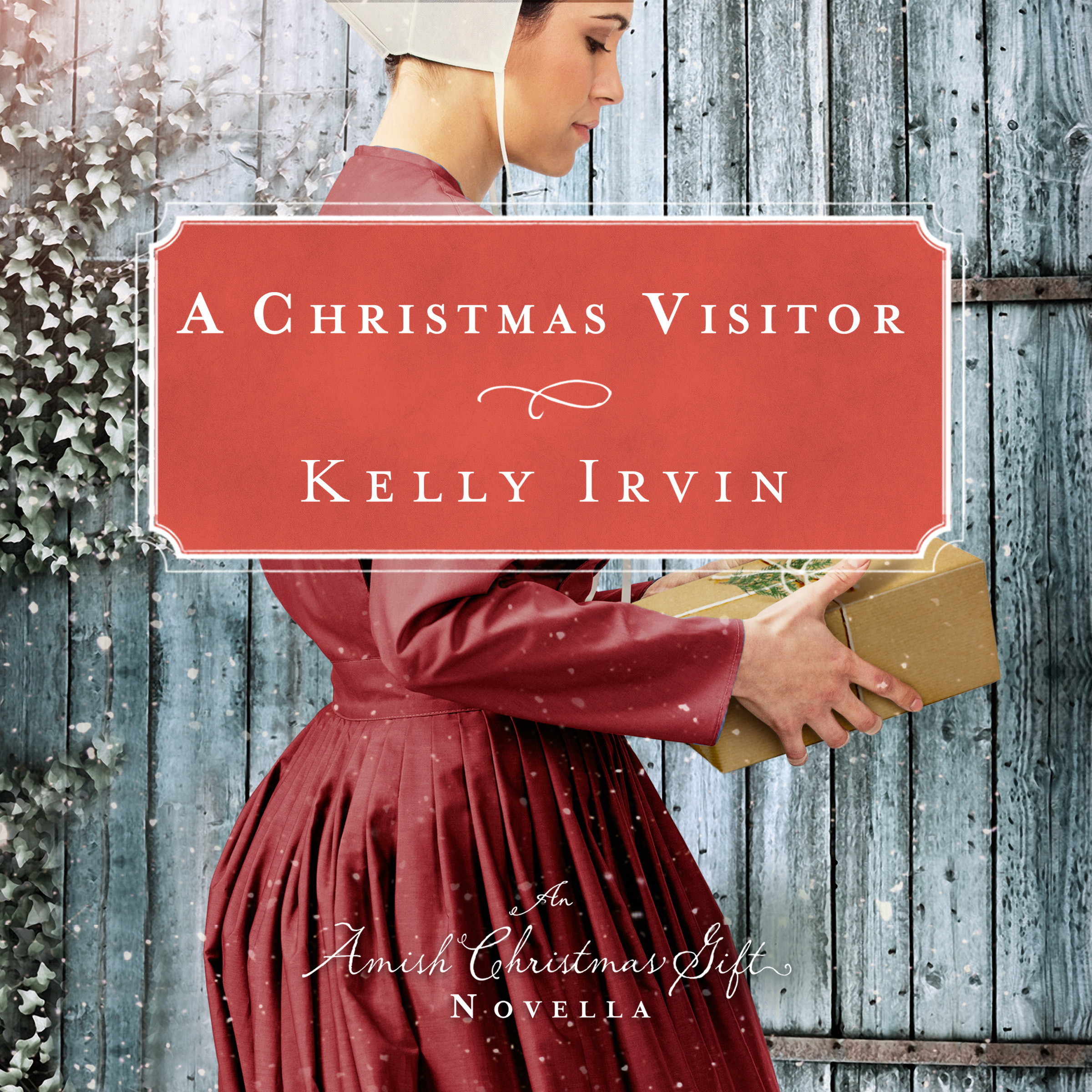 Printable A Christmas Visitor: An Amish Christmas Gift Novella Audiobook Cover Art