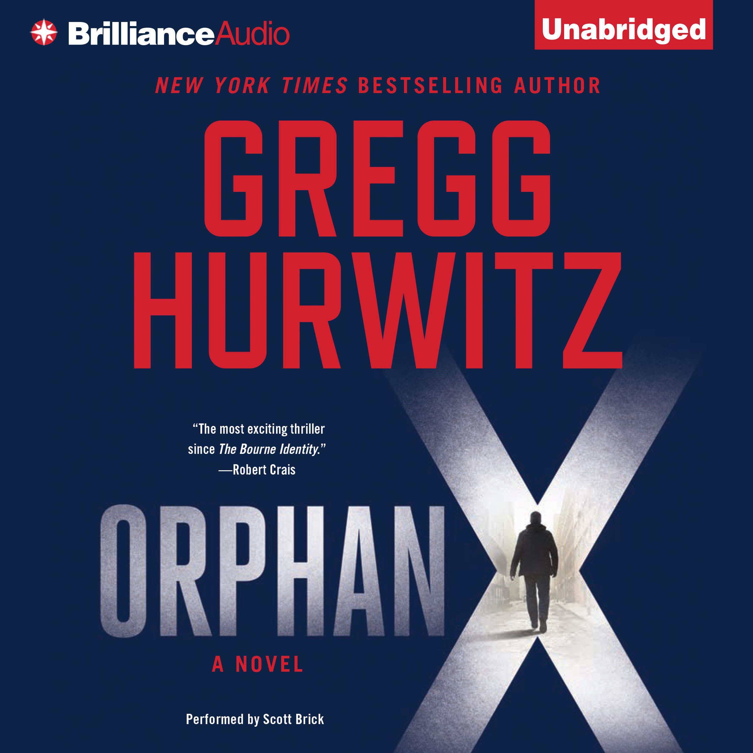 Printable Orphan X Audiobook Cover Art
